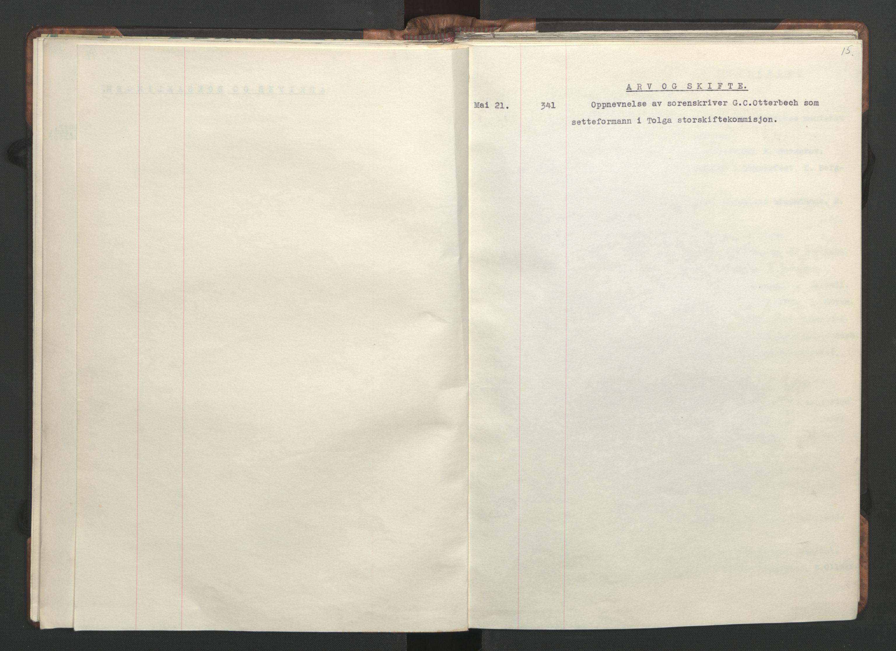 RA, NS-administrasjonen 1940-1945 (Statsrådsekretariatet, de kommisariske statsråder mm), D/Da/L0002: Register (RA j.nr. 985/1943, tilgangsnr. 17/1943), 1942, s. 14b-15a