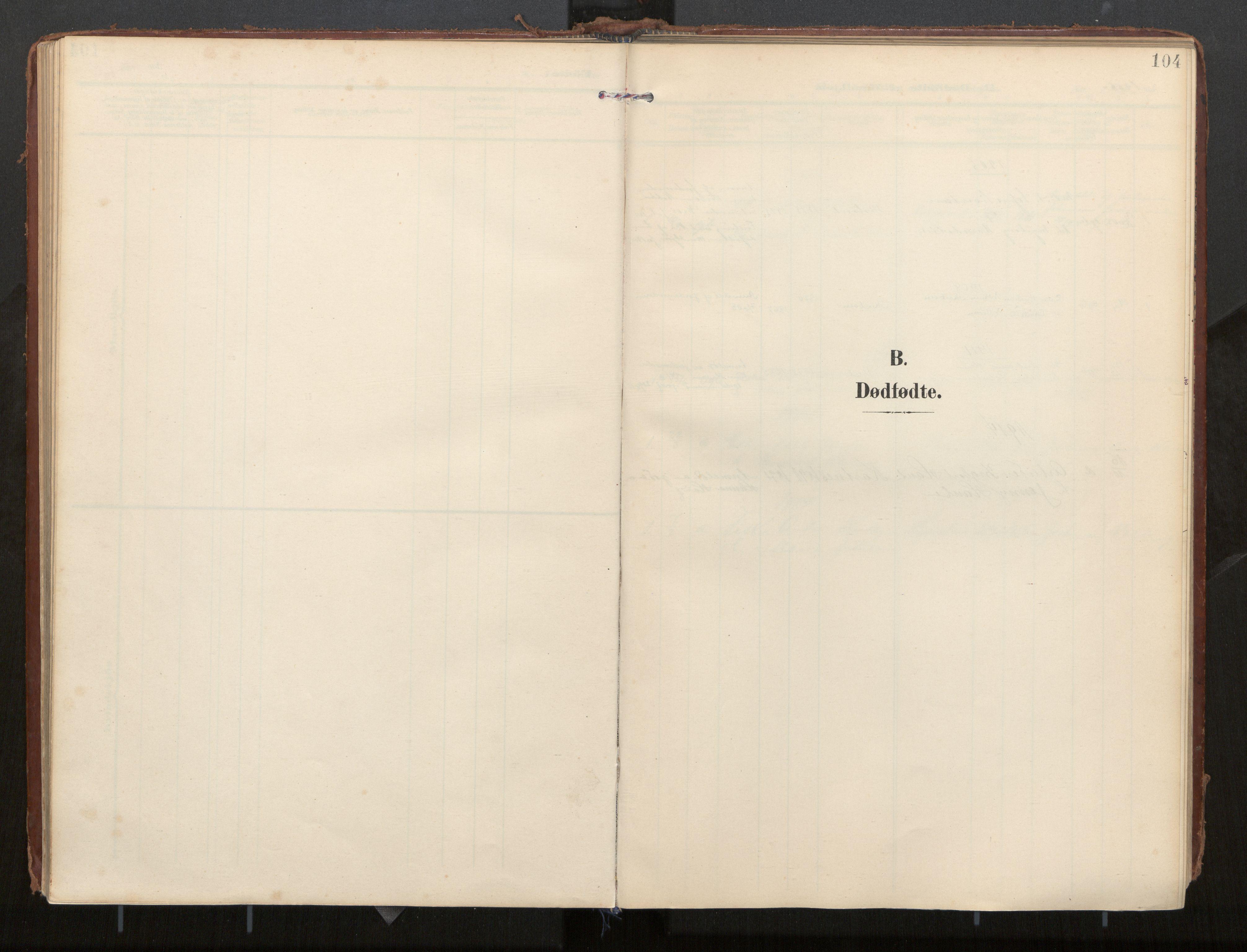 SAT, Ministerialprotokoller, klokkerbøker og fødselsregistre - Nordland, 884/L1194: Ministerialbok nr. 884A02, 1906-1937, s. 104