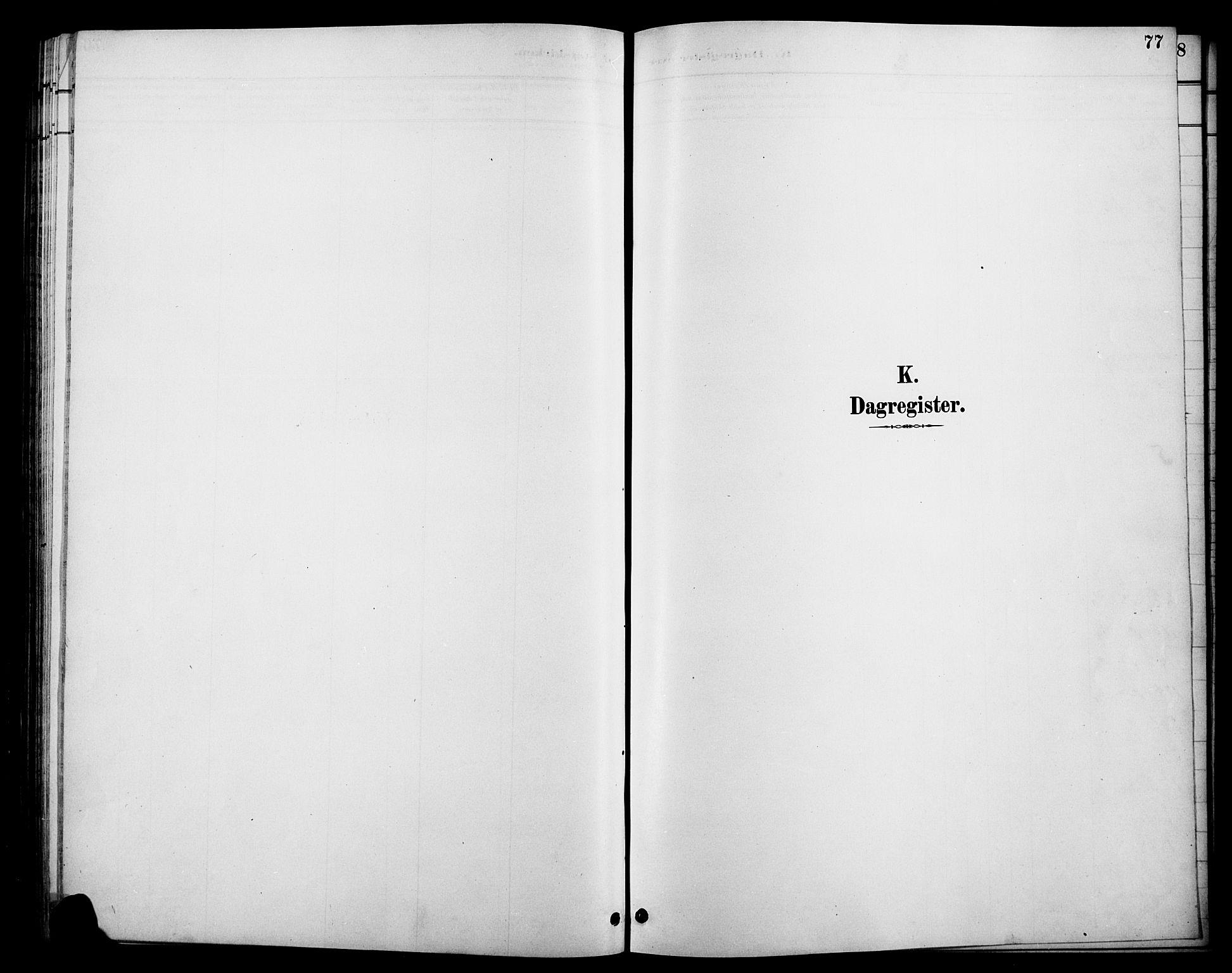 SAH, Øystre Slidre prestekontor, Klokkerbok nr. 6, 1887-1916, s. 77