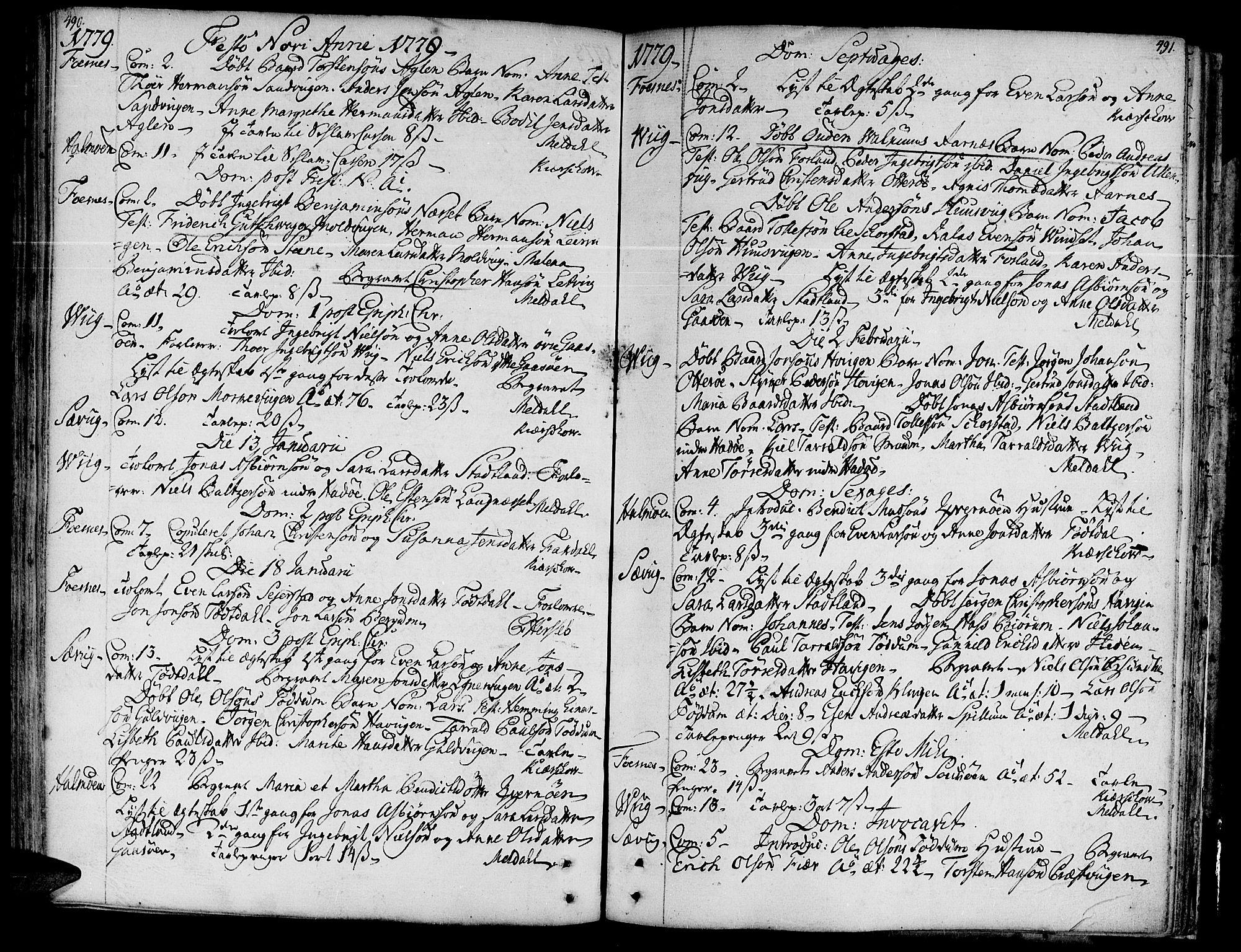 SAT, Ministerialprotokoller, klokkerbøker og fødselsregistre - Nord-Trøndelag, 773/L0607: Ministerialbok nr. 773A01, 1751-1783, s. 490-491