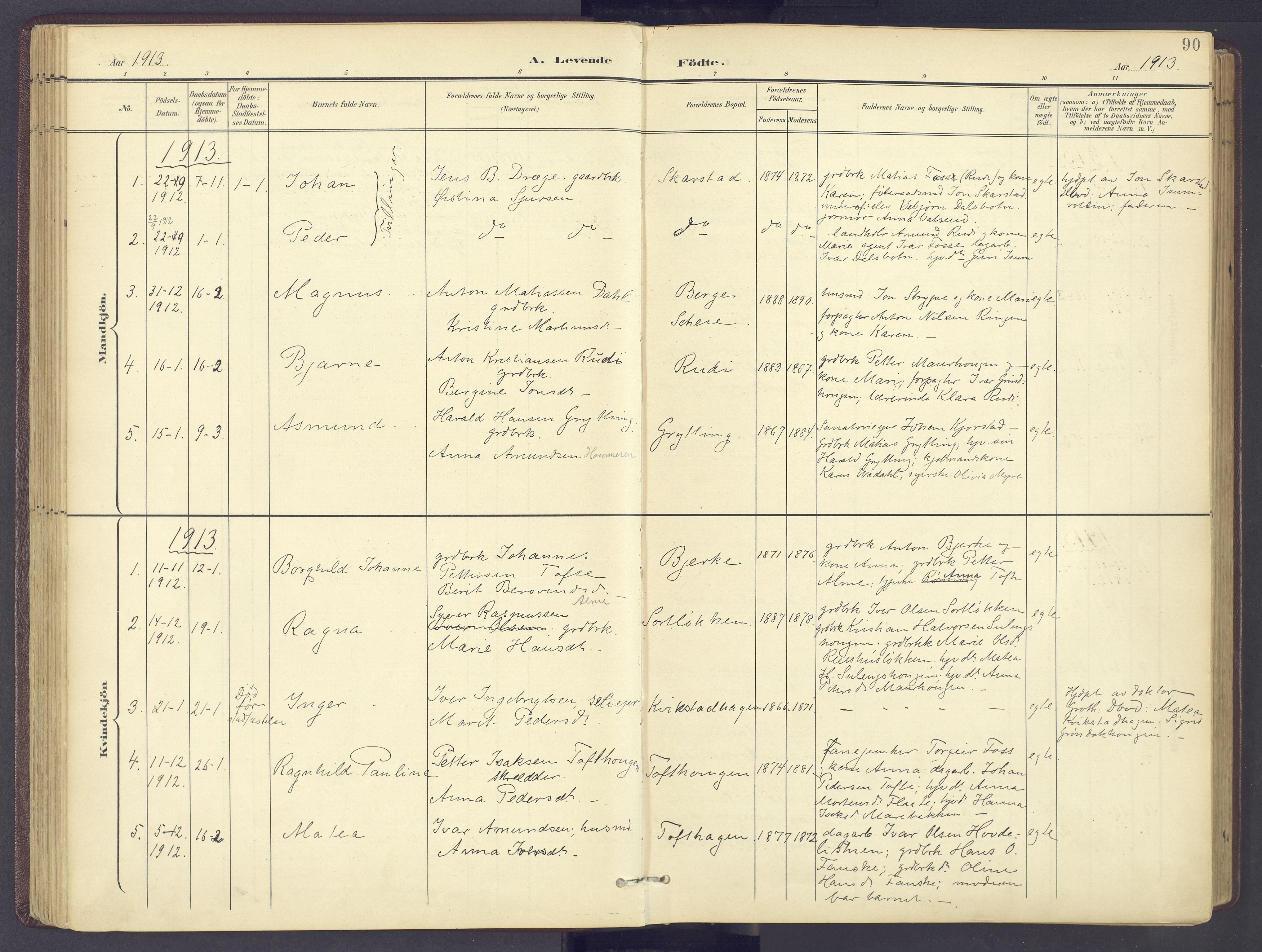 SAH, Sør-Fron prestekontor, H/Ha/Haa/L0004: Ministerialbok nr. 4, 1898-1919, s. 90