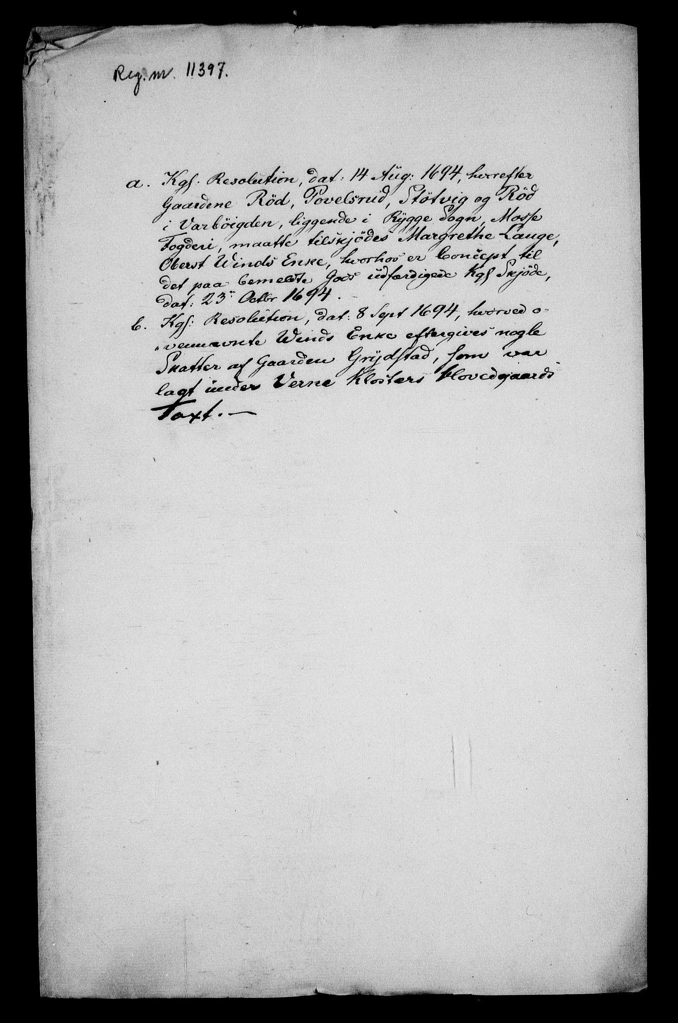 RA, Rentekammeret inntil 1814, Realistisk ordnet avdeling, On/L0013: [Jj 14]: Forskjellige dokumenter om krongodset i Norge, 1672-1722, s. 162