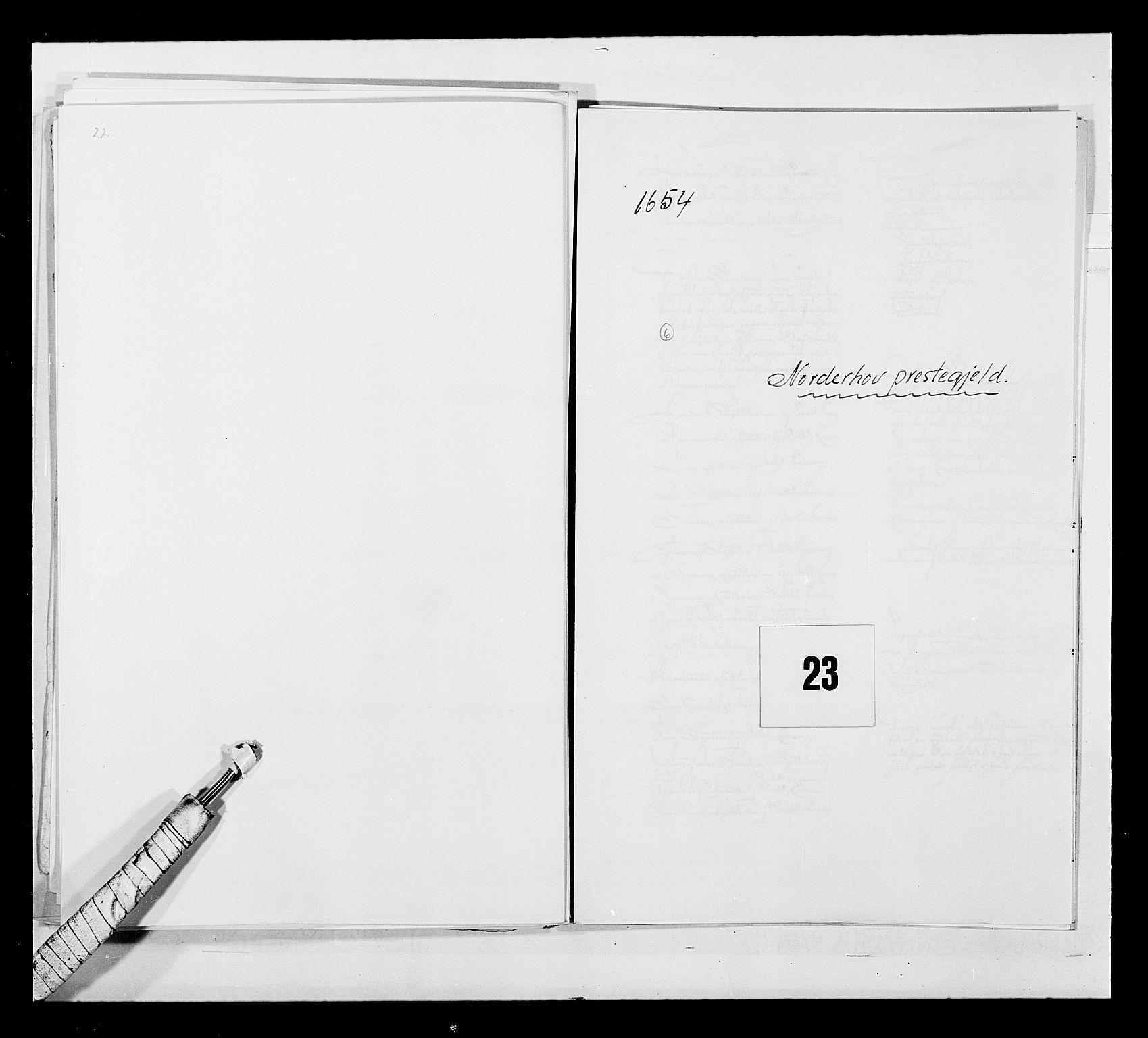 RA, Stattholderembetet 1572-1771, Ek/L0030: Jordebøker 1633-1658:, 1654, s. 98
