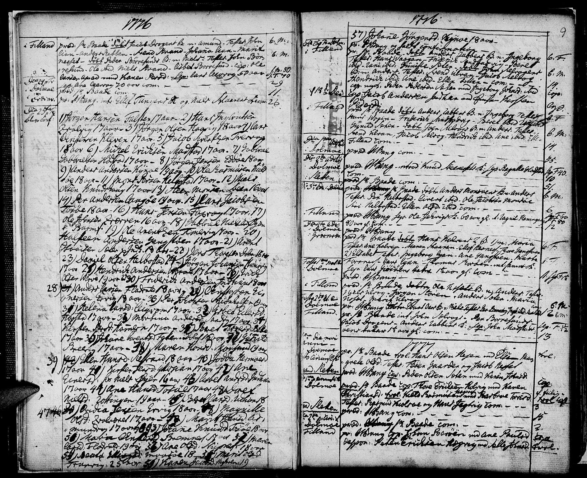 SAT, Ministerialprotokoller, klokkerbøker og fødselsregistre - Sør-Trøndelag, 634/L0526: Ministerialbok nr. 634A02, 1775-1818, s. 9