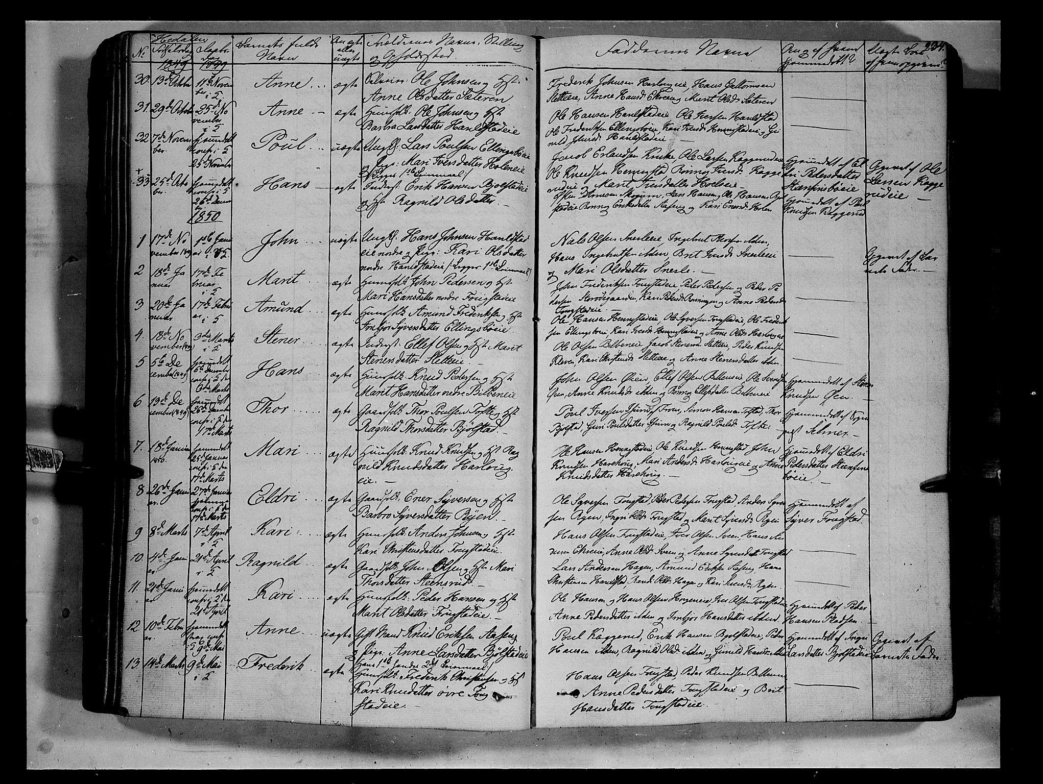 SAH, Vågå prestekontor, Ministerialbok nr. 5 /2, 1842-1856, s. 234