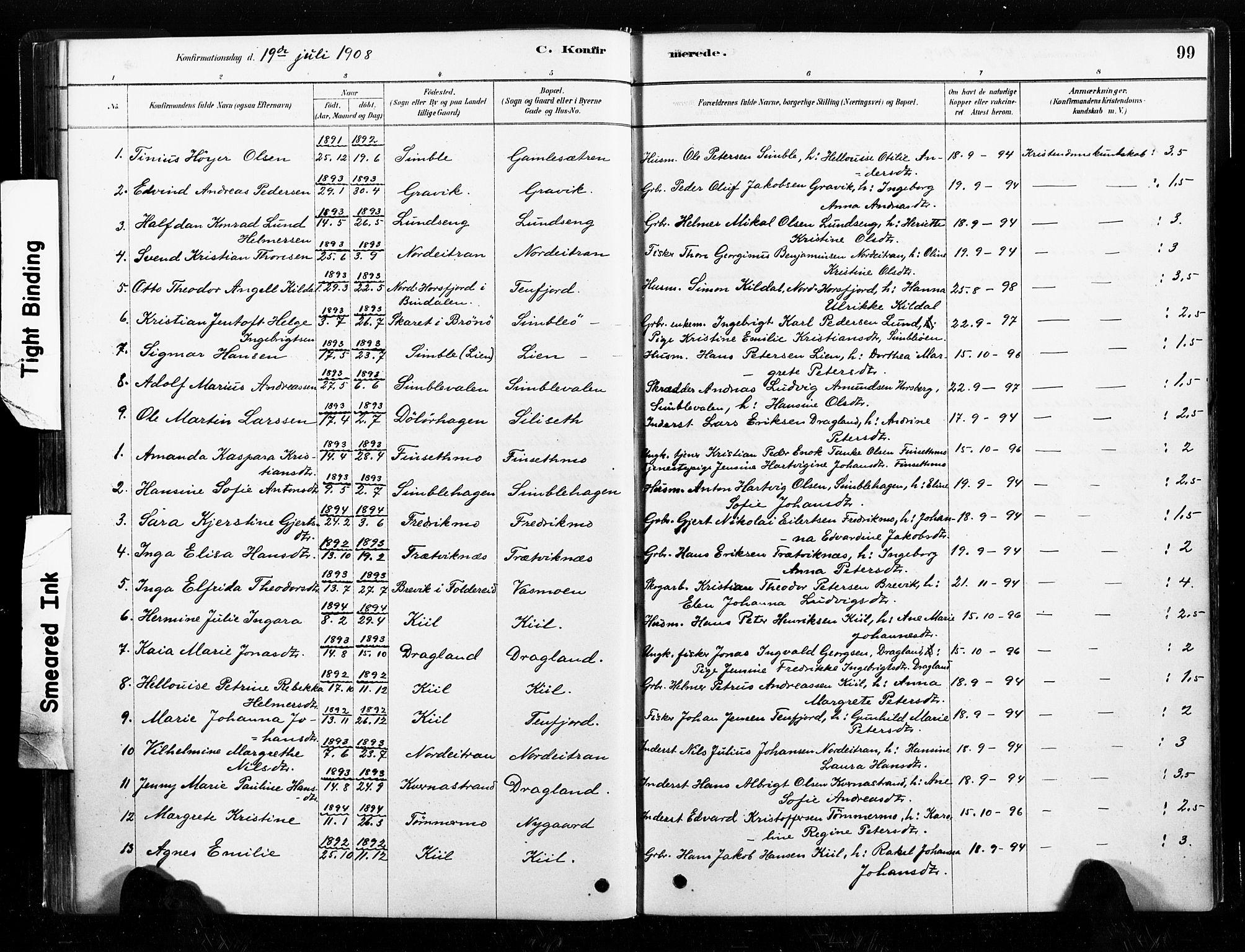 SAT, Ministerialprotokoller, klokkerbøker og fødselsregistre - Nord-Trøndelag, 789/L0705: Ministerialbok nr. 789A01, 1878-1910, s. 99