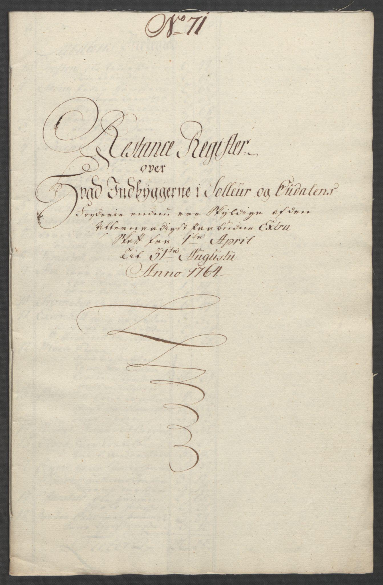 RA, Rentekammeret inntil 1814, Reviderte regnskaper, Fogderegnskap, R14/L0959: Ekstraskatten Solør og Odal, 1763-1770, s. 492