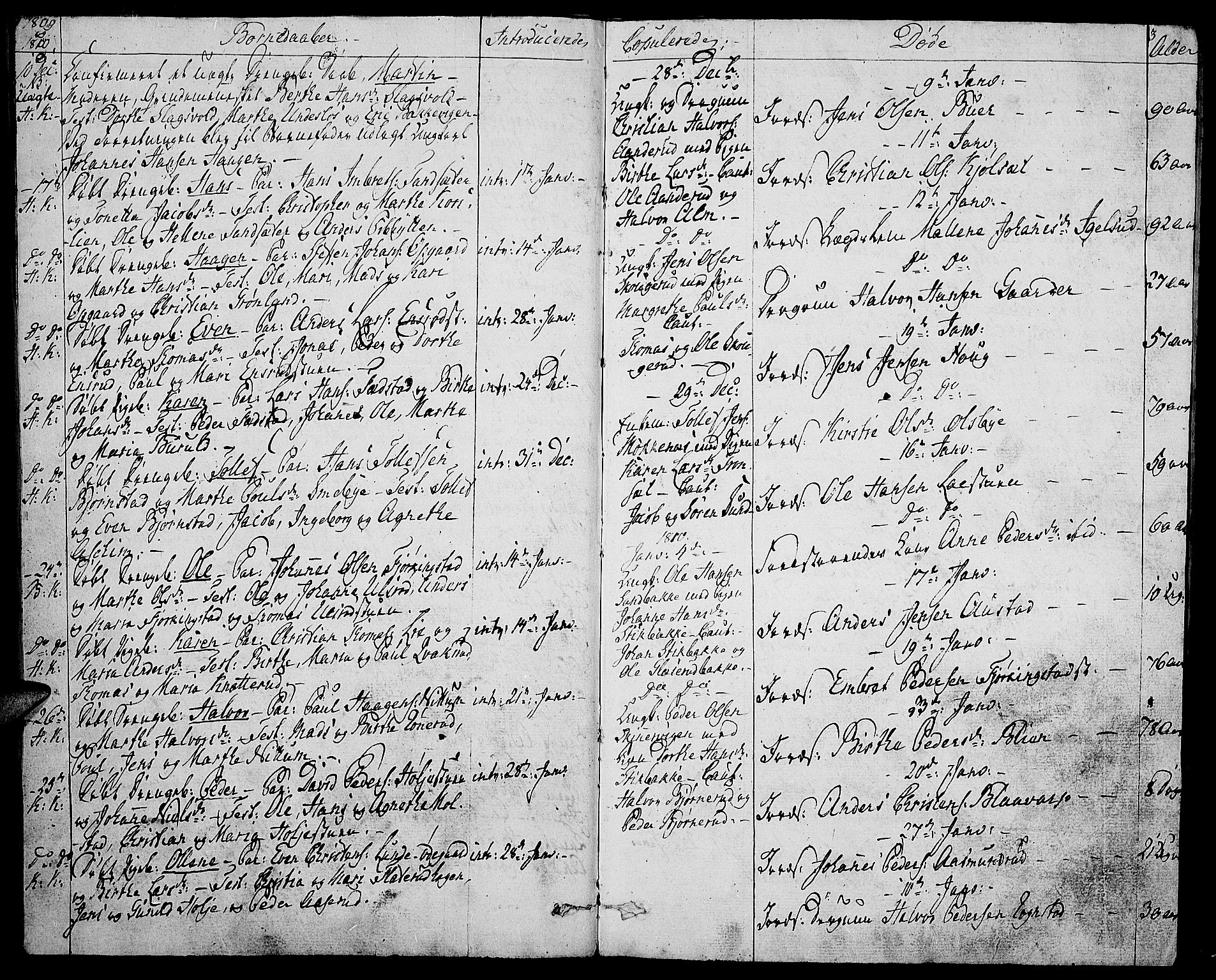 SAH, Toten prestekontor, Ministerialbok nr. 8, 1809-1814, s. 3