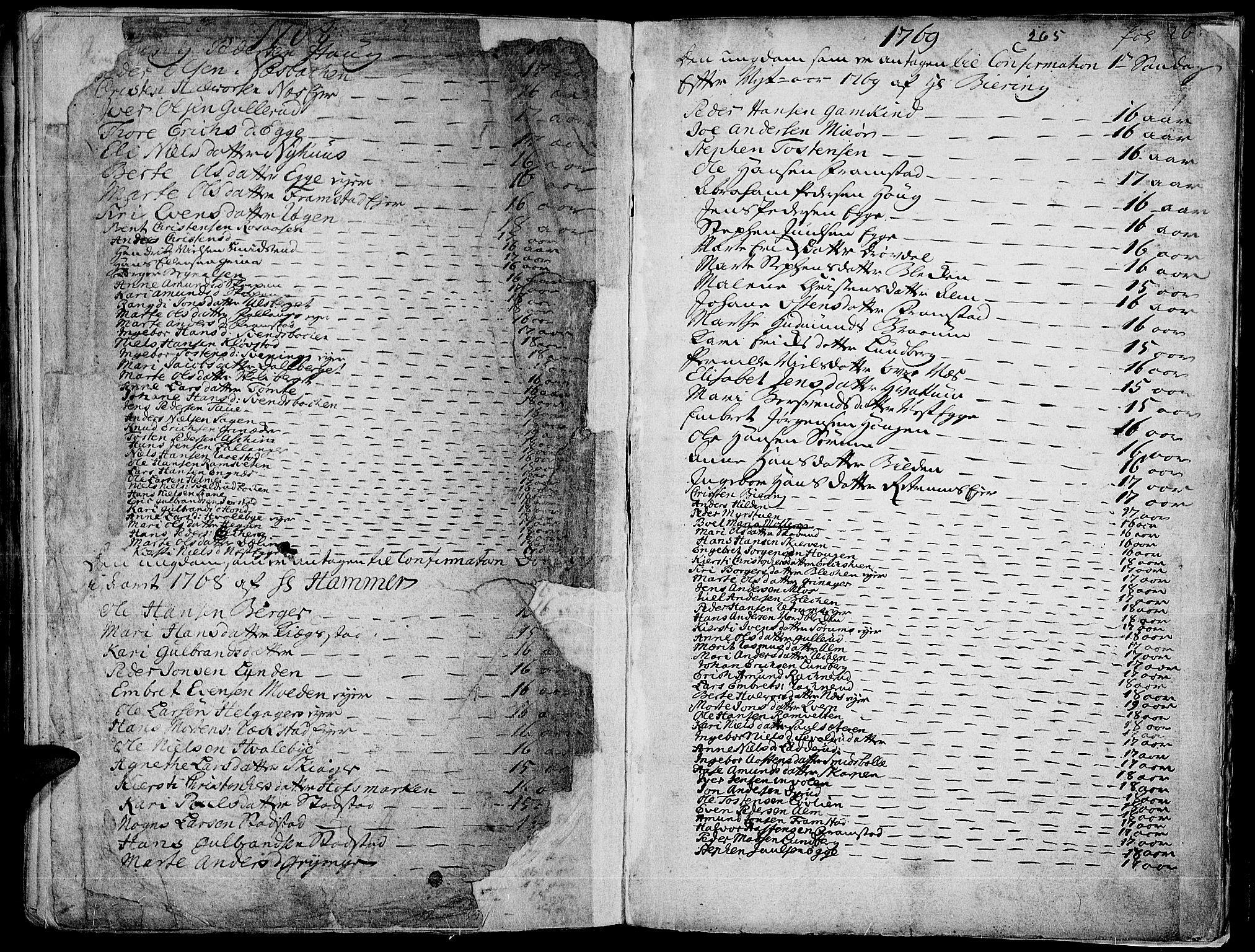 SAH, Gran prestekontor, Ministerialbok nr. 4, 1759-1775, s. 265