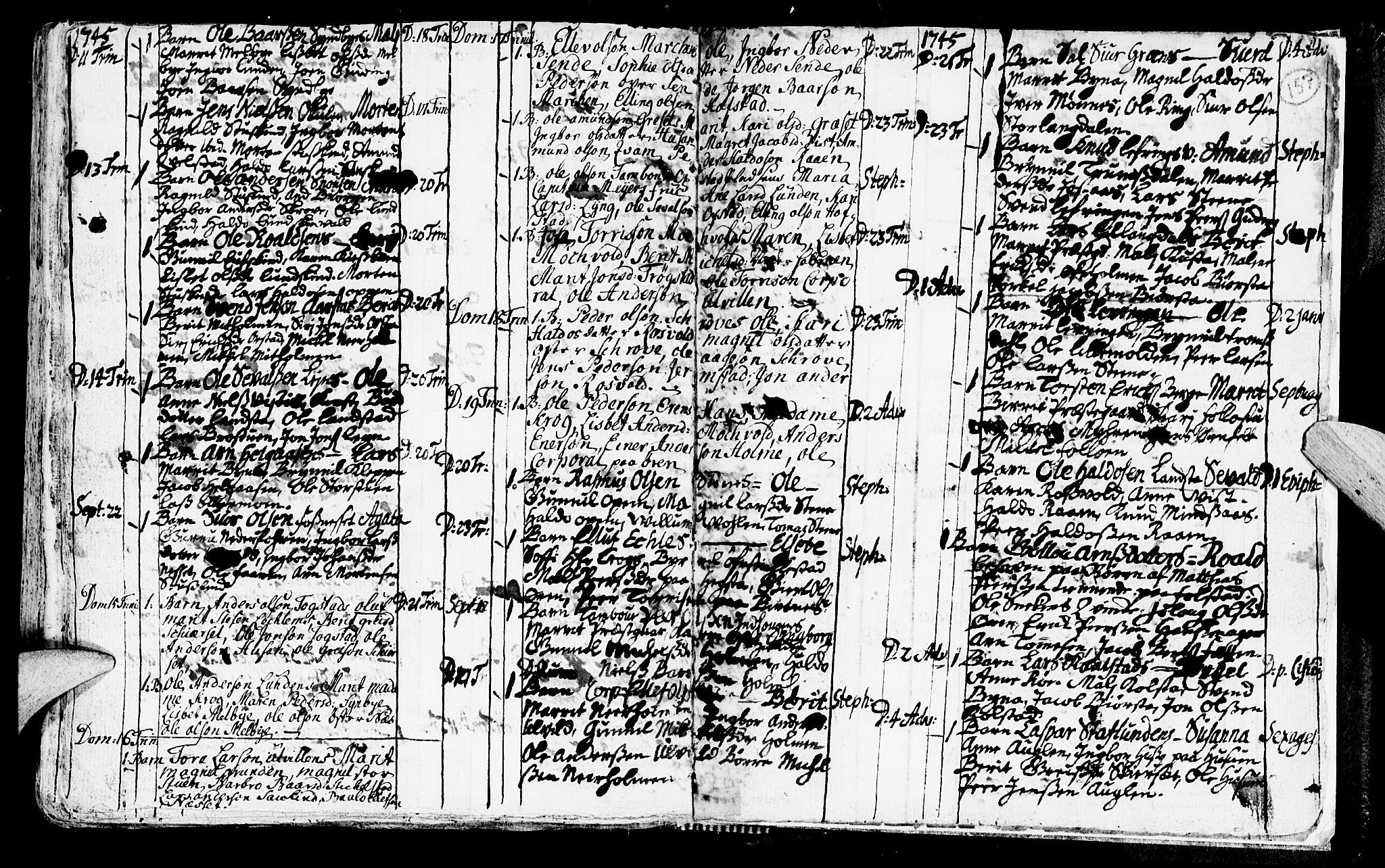 SAT, Ministerialprotokoller, klokkerbøker og fødselsregistre - Nord-Trøndelag, 723/L0230: Ministerialbok nr. 723A01, 1705-1747, s. 157
