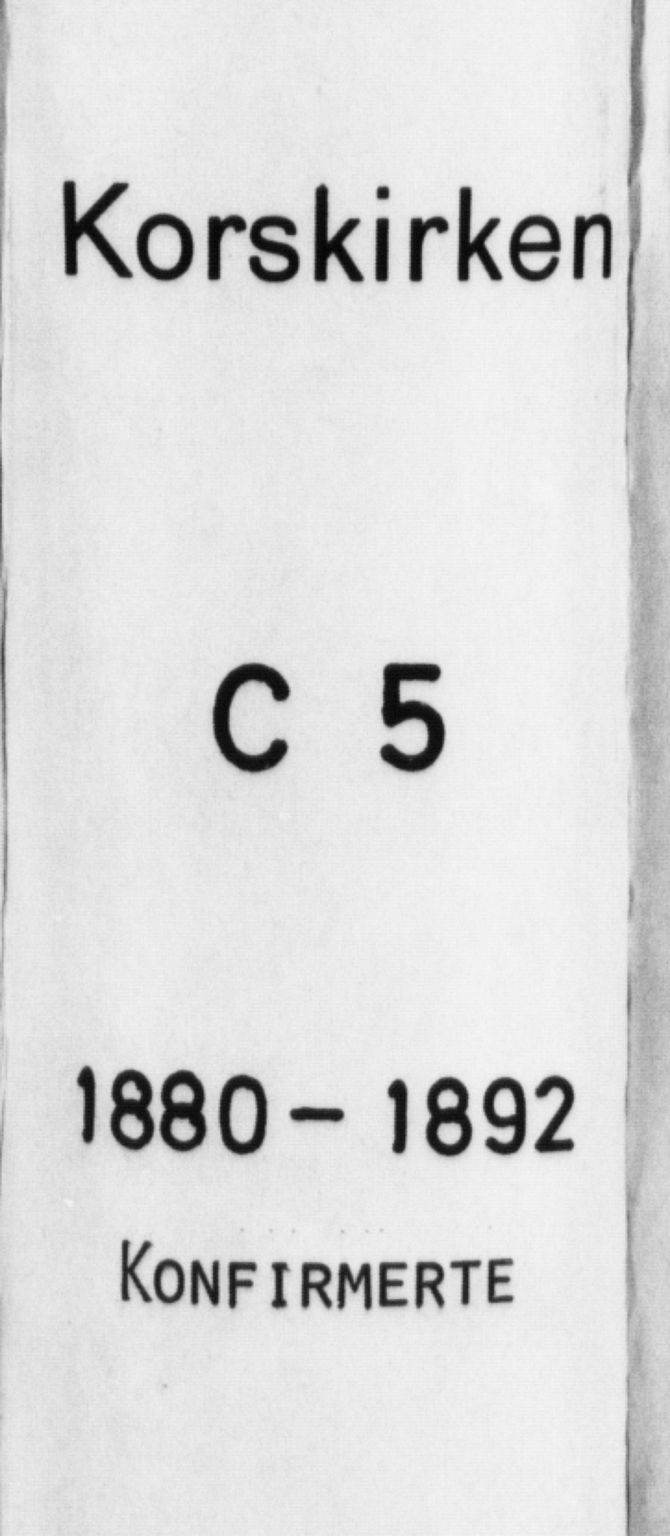 SAB, Korskirken Sokneprestembete, H/Haa/L0029: Ministerialbok nr. C 5, 1880-1892