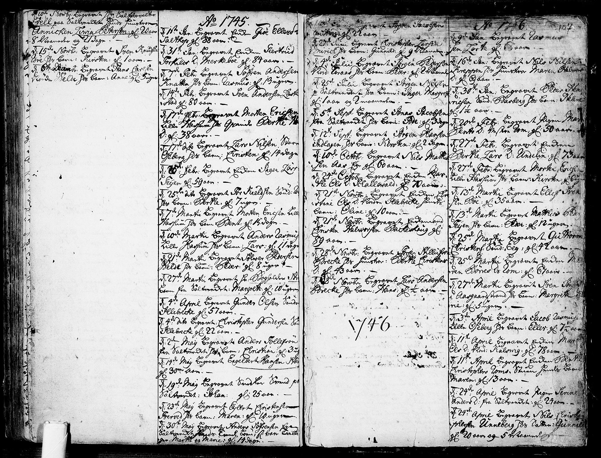 SAKO, Sem kirkebøker, F/Fb/L0001: Ministerialbok nr. II 1, 1702-1764, s. 107