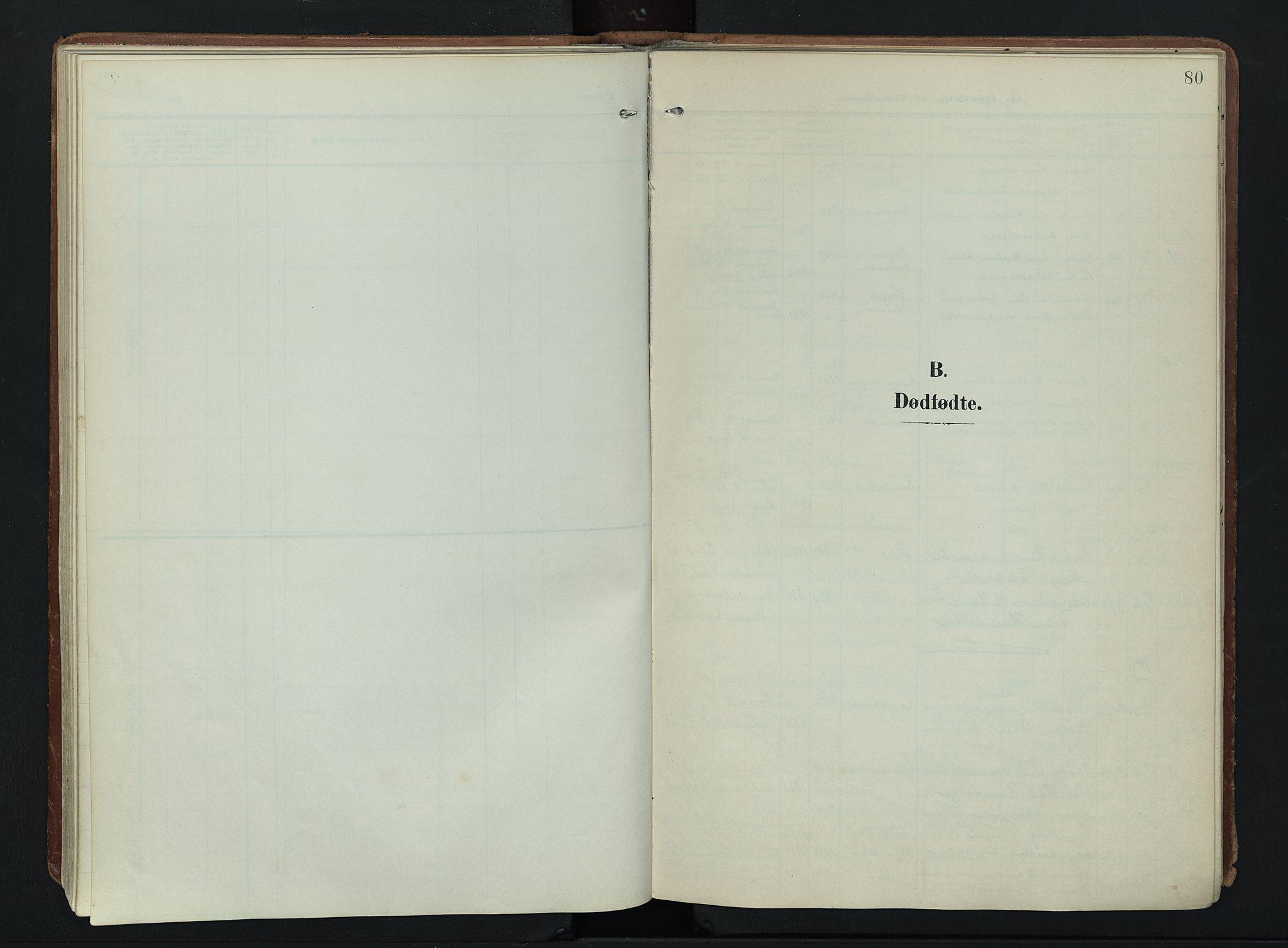 SAH, Søndre Land prestekontor, K/L0007: Ministerialbok nr. 7, 1905-1914, s. 80