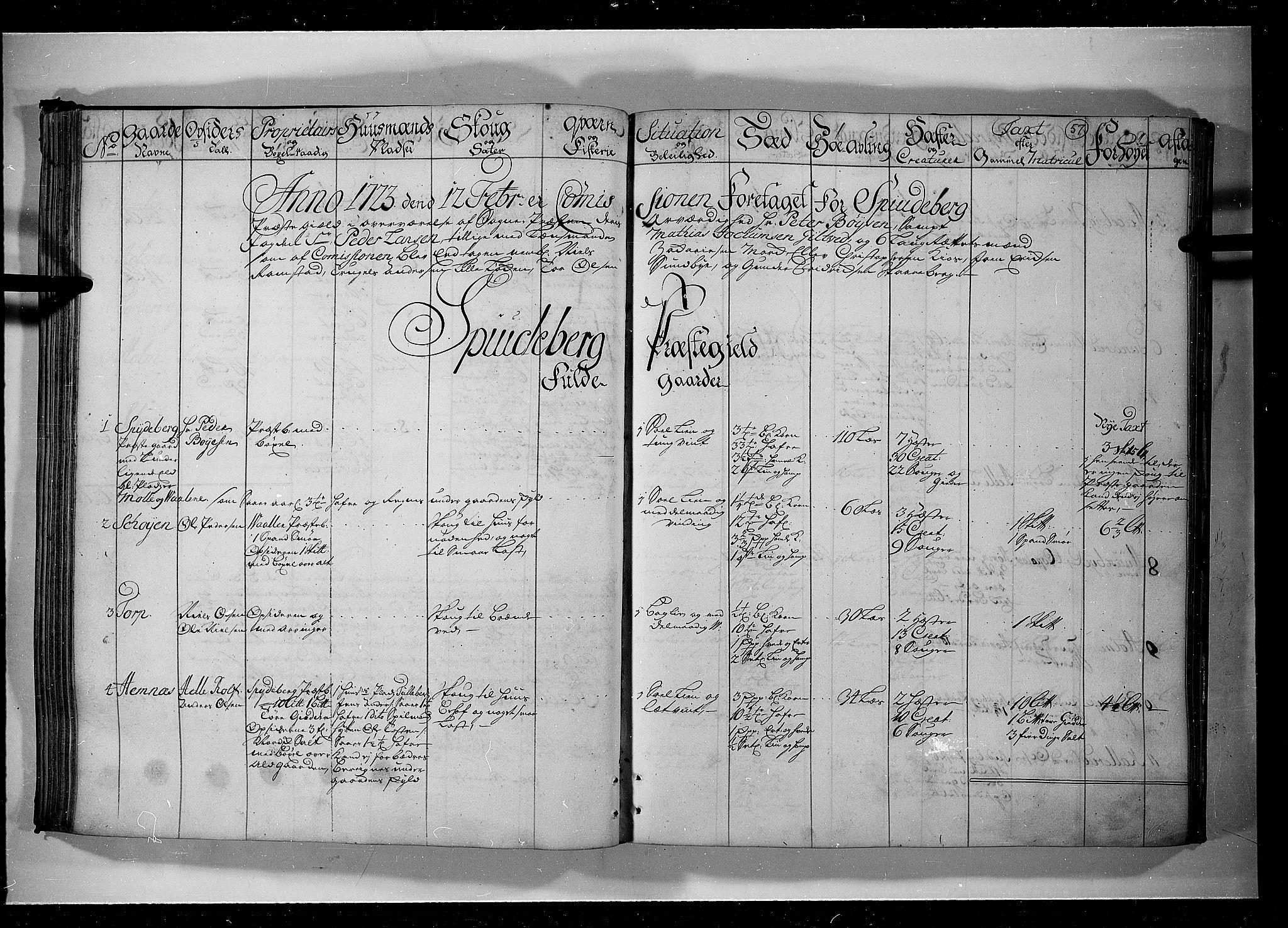 RA, Rentekammeret inntil 1814, Realistisk ordnet avdeling, N/Nb/Nbf/L0099: Rakkestad, Heggen og Frøland eksaminasjonsprotokoll, 1723, s. 56b-57a