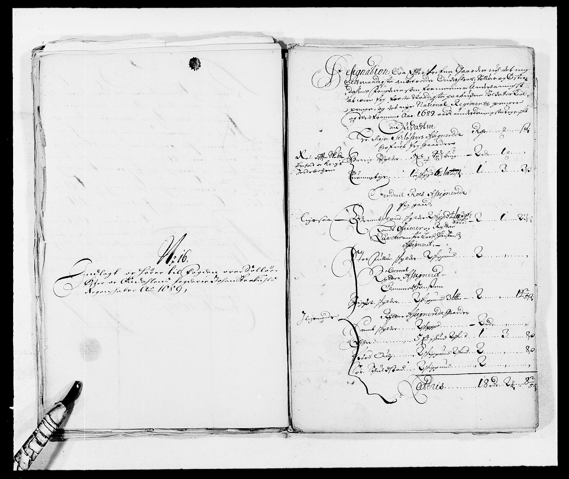 RA, Rentekammeret inntil 1814, Reviderte regnskaper, Fogderegnskap, R13/L0827: Fogderegnskap Solør, Odal og Østerdal, 1689, s. 389