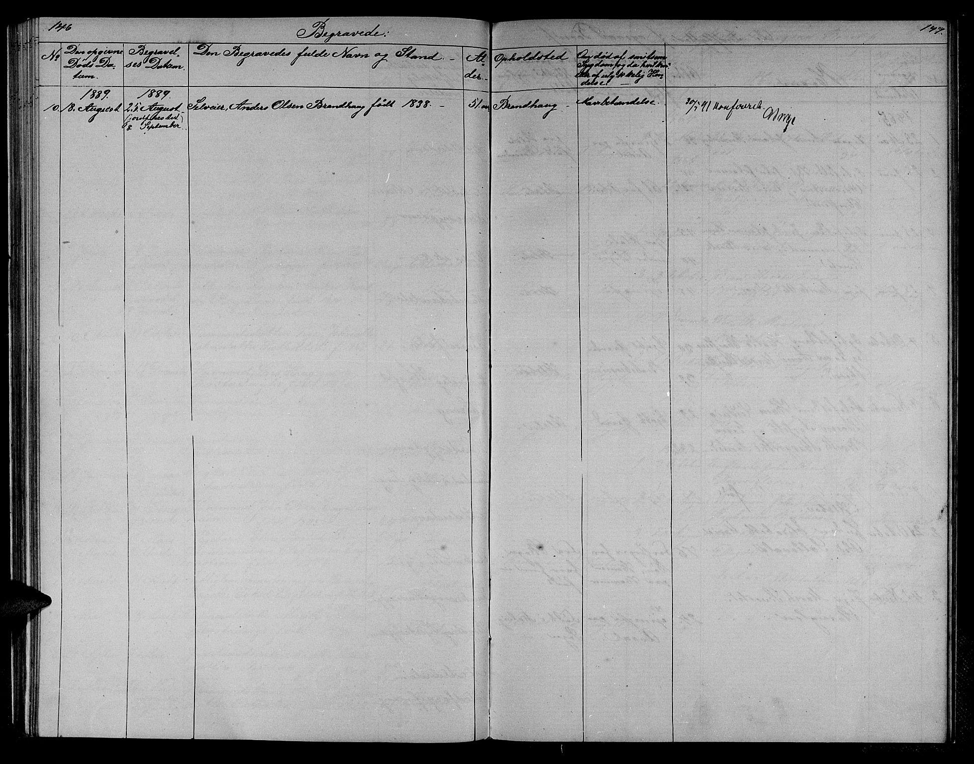 SAT, Ministerialprotokoller, klokkerbøker og fødselsregistre - Sør-Trøndelag, 608/L0340: Klokkerbok nr. 608C06, 1864-1889, s. 146-147