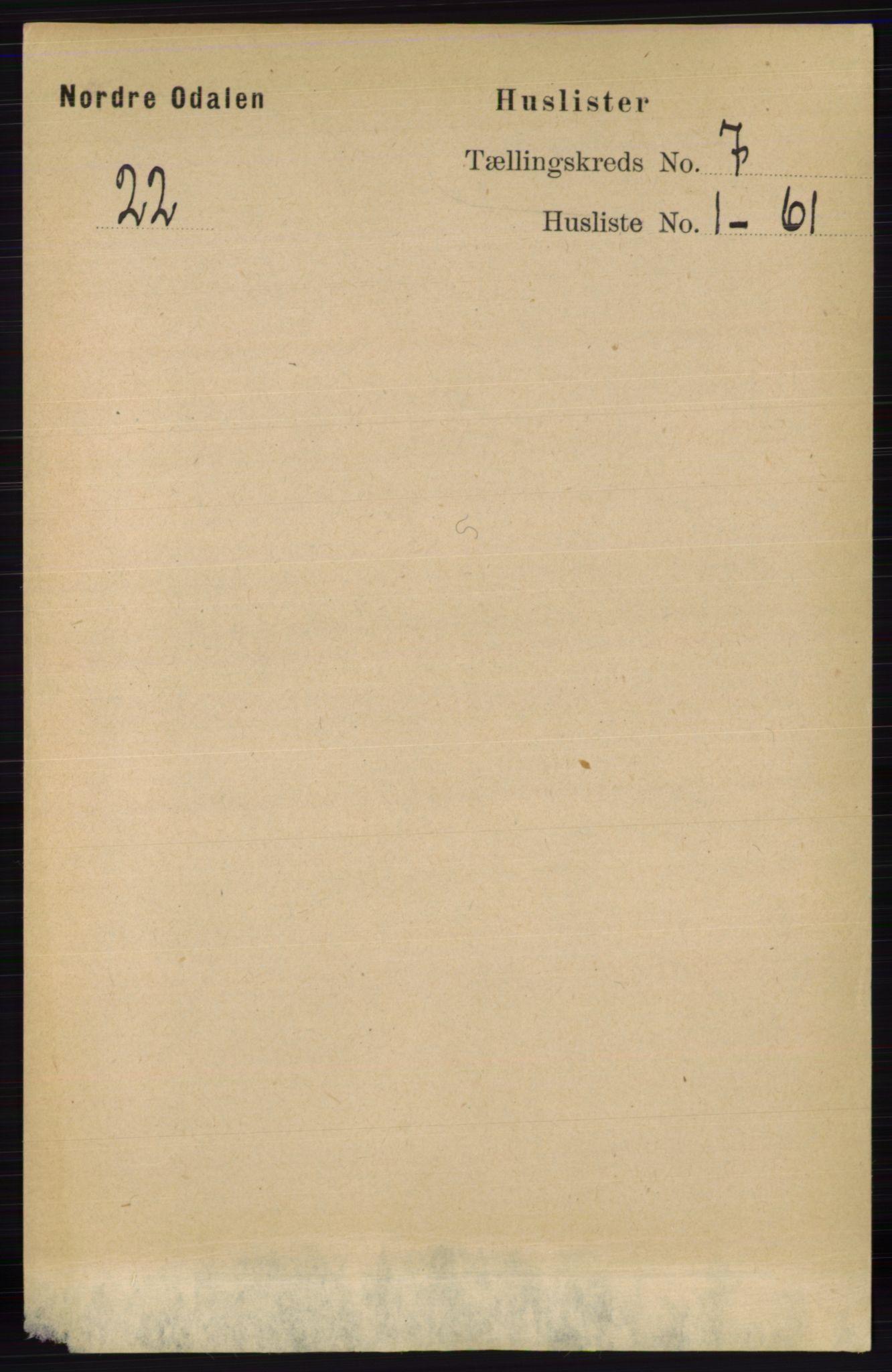 RA, Folketelling 1891 for 0418 Nord-Odal herred, 1891, s. 2771