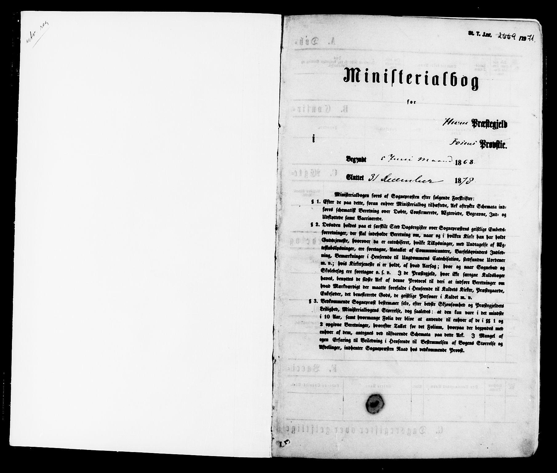 SAT, Ministerialprotokoller, klokkerbøker og fødselsregistre - Sør-Trøndelag, 630/L0495: Ministerialbok nr. 630A08, 1868-1878