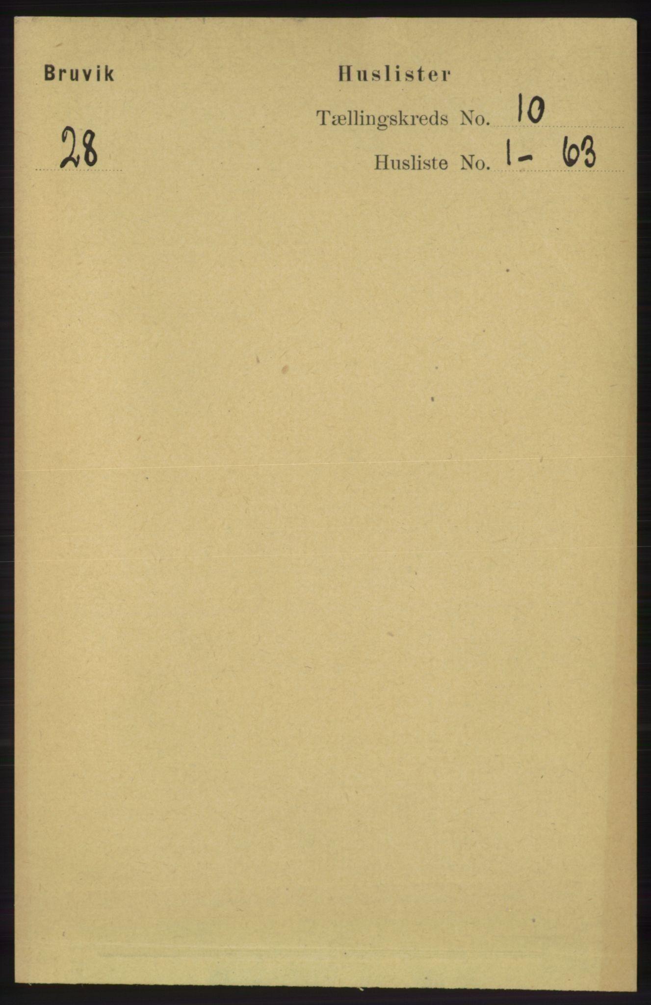 RA, Folketelling 1891 for 1251 Bruvik herred, 1891, s. 3588
