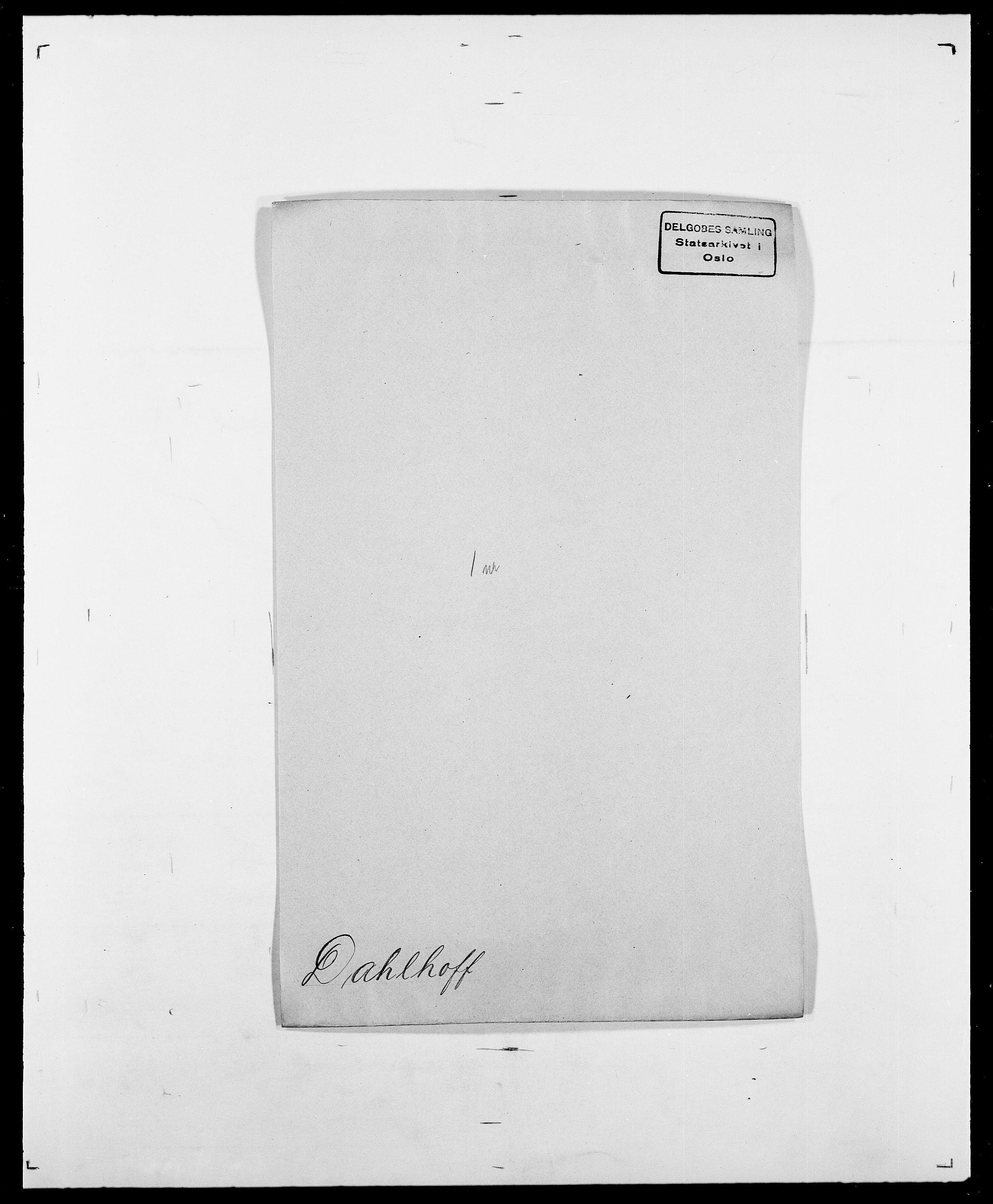 SAO, Delgobe, Charles Antoine - samling, D/Da/L0009: Dahl - v. Düren, s. 210