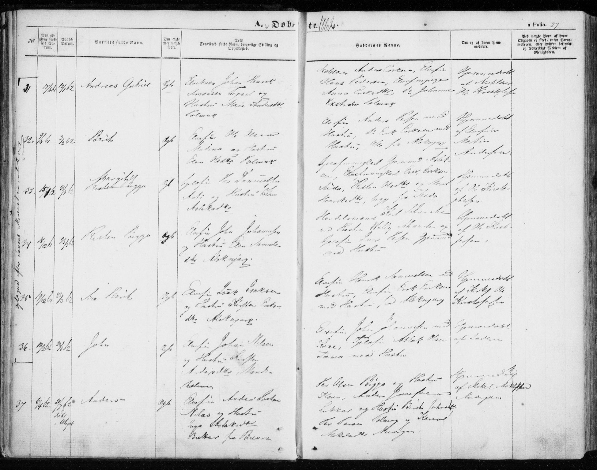 SATØ, Nesseby sokneprestkontor, H/Ha/L0002kirke: Ministerialbok nr. 2, 1856-1864, s. 27