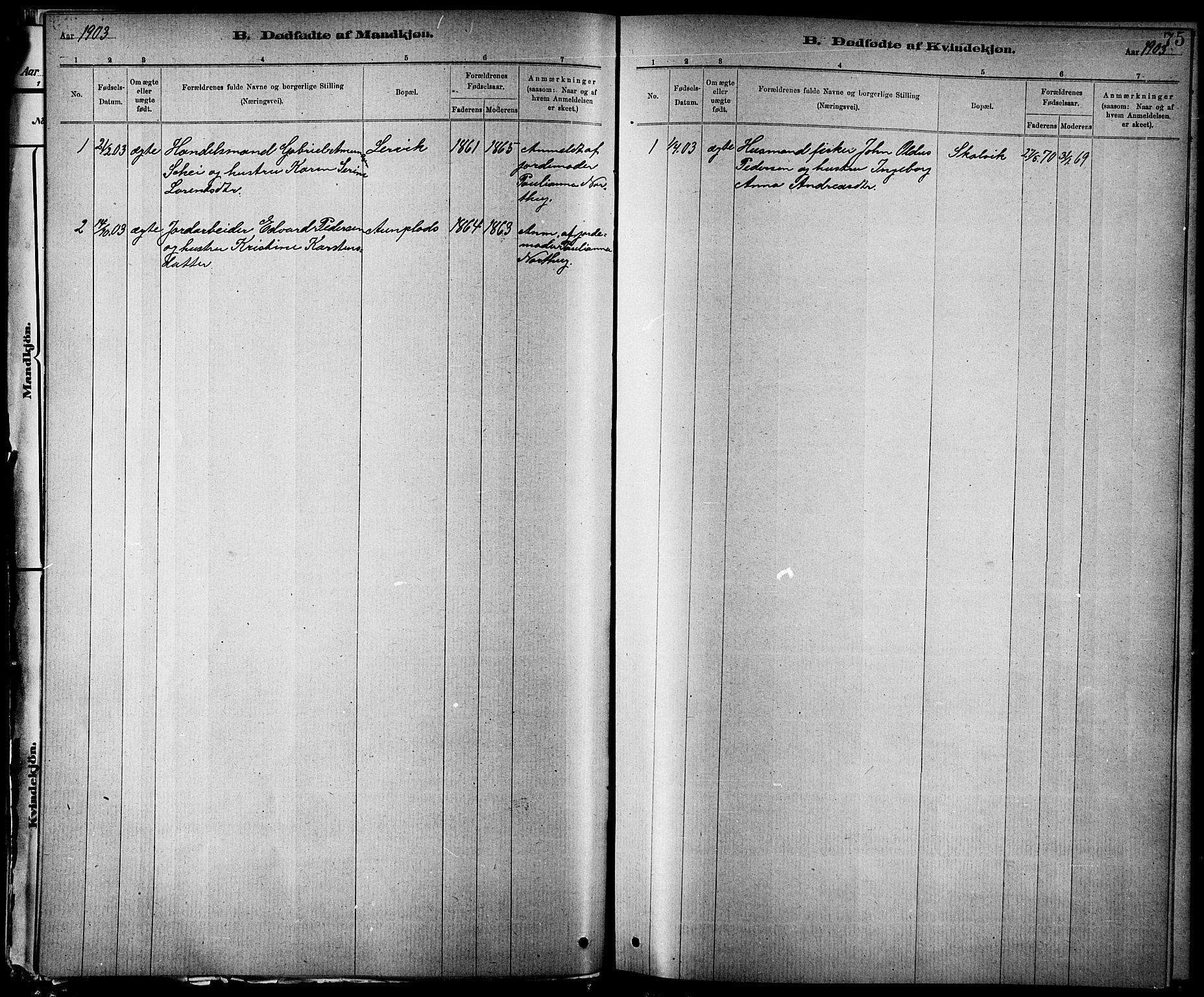 SAT, Ministerialprotokoller, klokkerbøker og fødselsregistre - Nord-Trøndelag, 744/L0423: Klokkerbok nr. 744C02, 1886-1905, s. 75