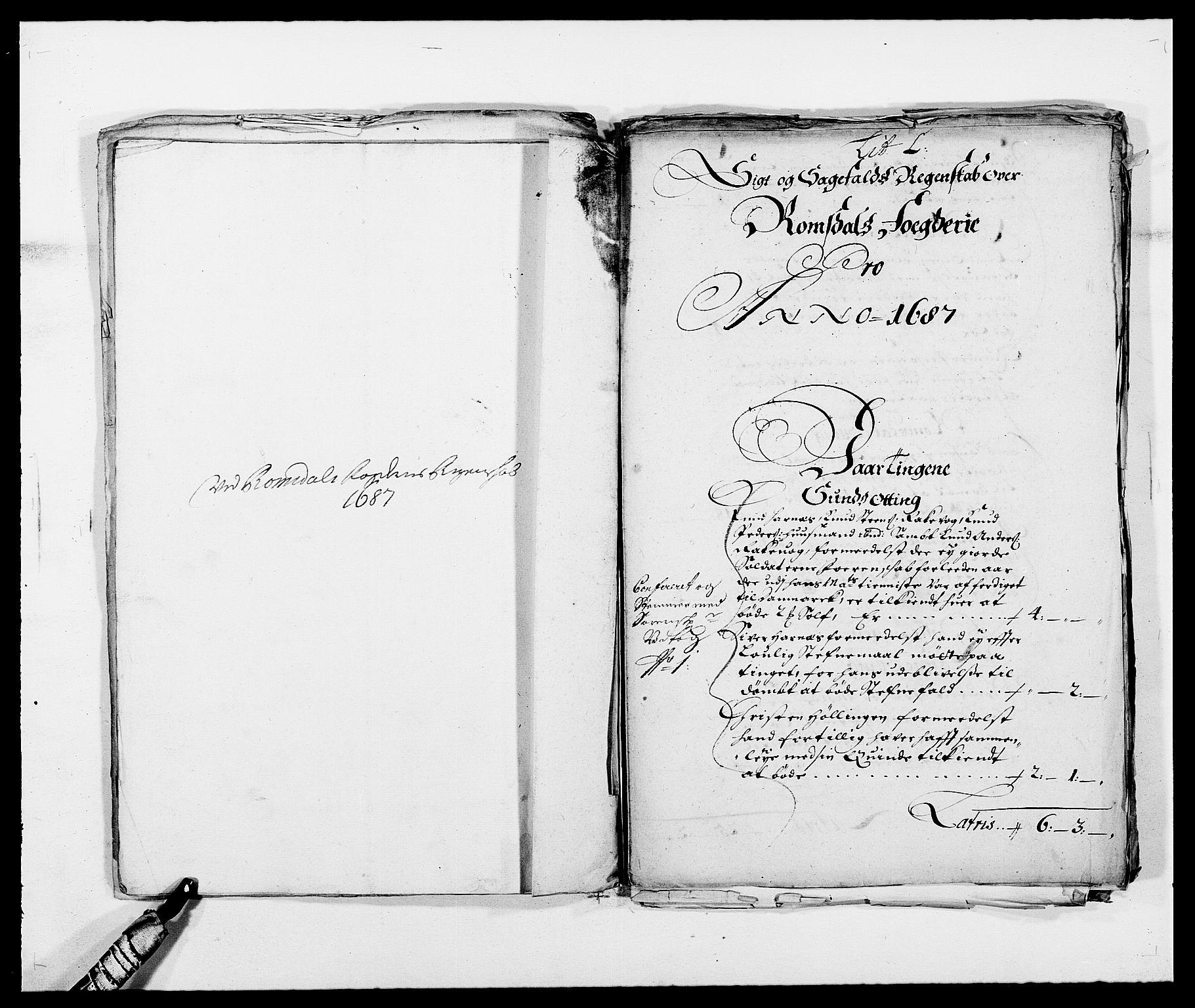 RA, Rentekammeret inntil 1814, Reviderte regnskaper, Fogderegnskap, R55/L3648: Fogderegnskap Romsdal, 1687-1689, s. 134