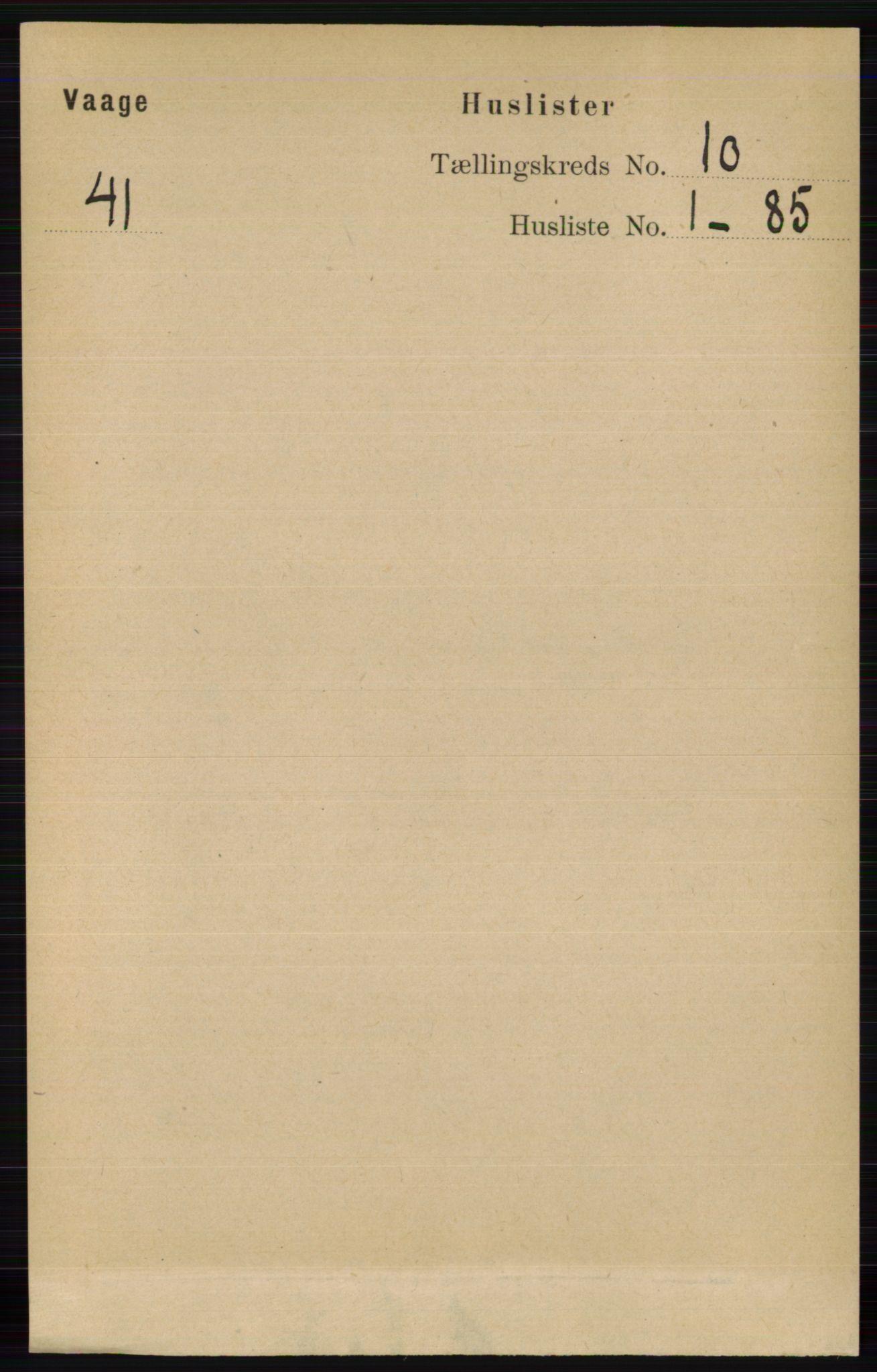 RA, Folketelling 1891 for 0515 Vågå herred, 1891, s. 6123