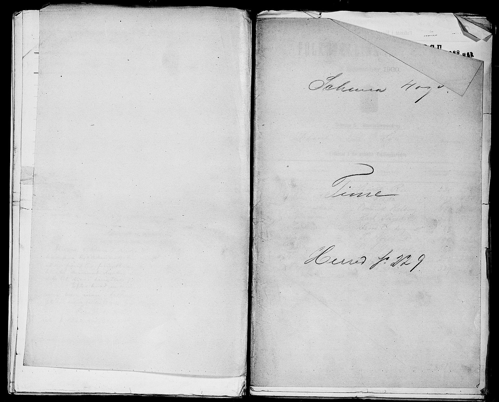 SAST, Folketelling 1900 for 1121 Time herred, 1900, s. 1