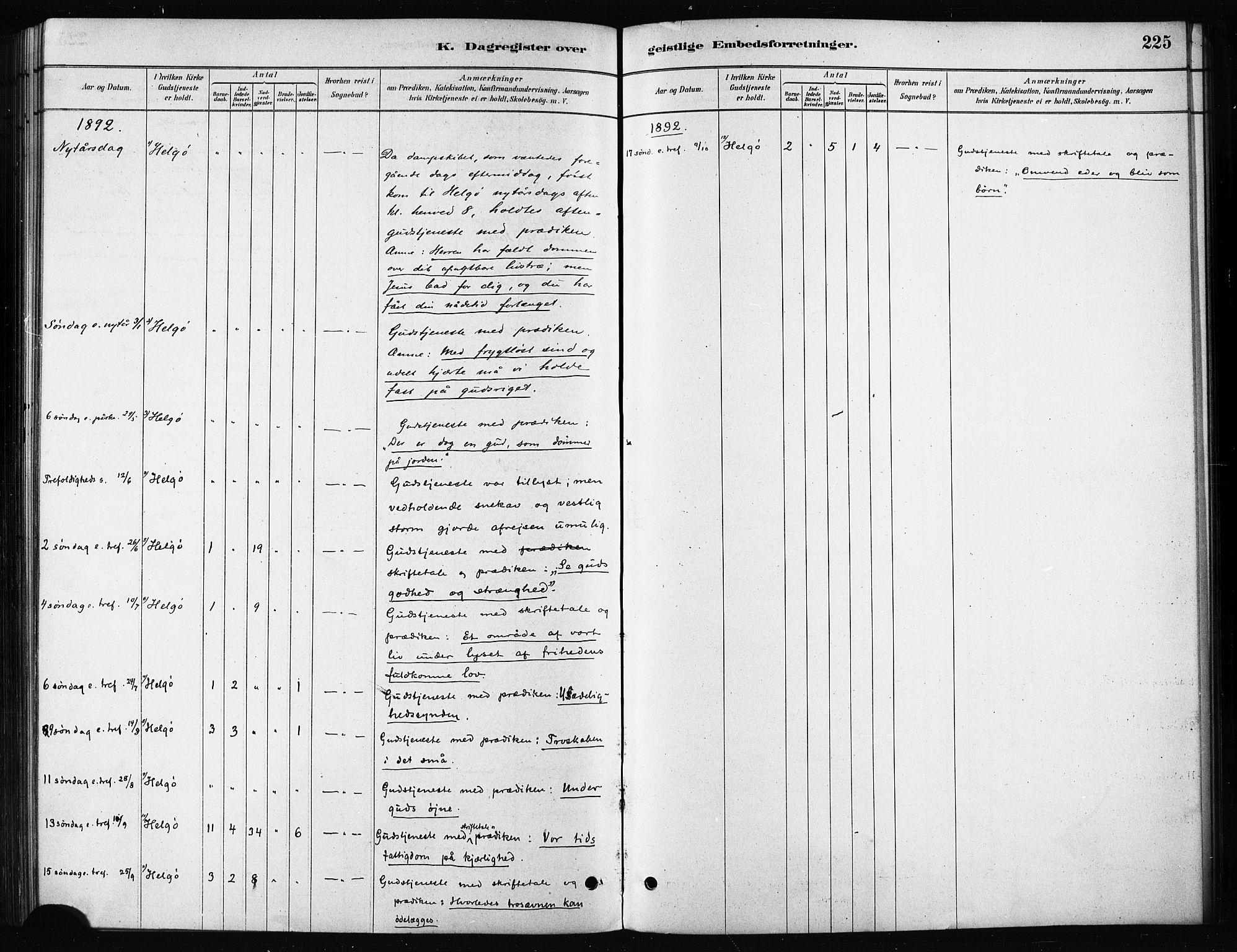 SATØ, Karlsøy sokneprestembete, H/Ha/Haa/L0011kirke: Ministerialbok nr. 11, 1879-1892, s. 225