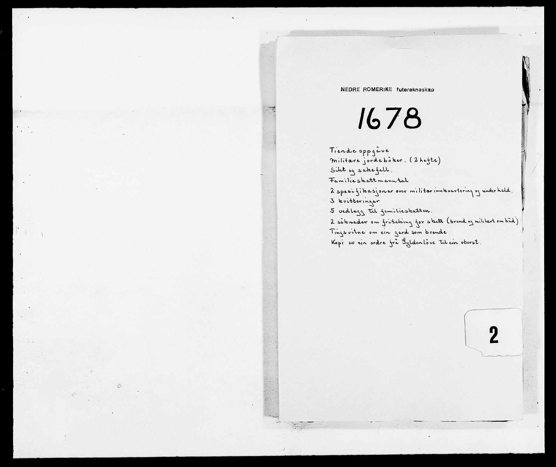 RA, Rentekammeret inntil 1814, Reviderte regnskaper, Fogderegnskap, R11/L0567: Fogderegnskap Nedre Romerike, 1678, s. 223