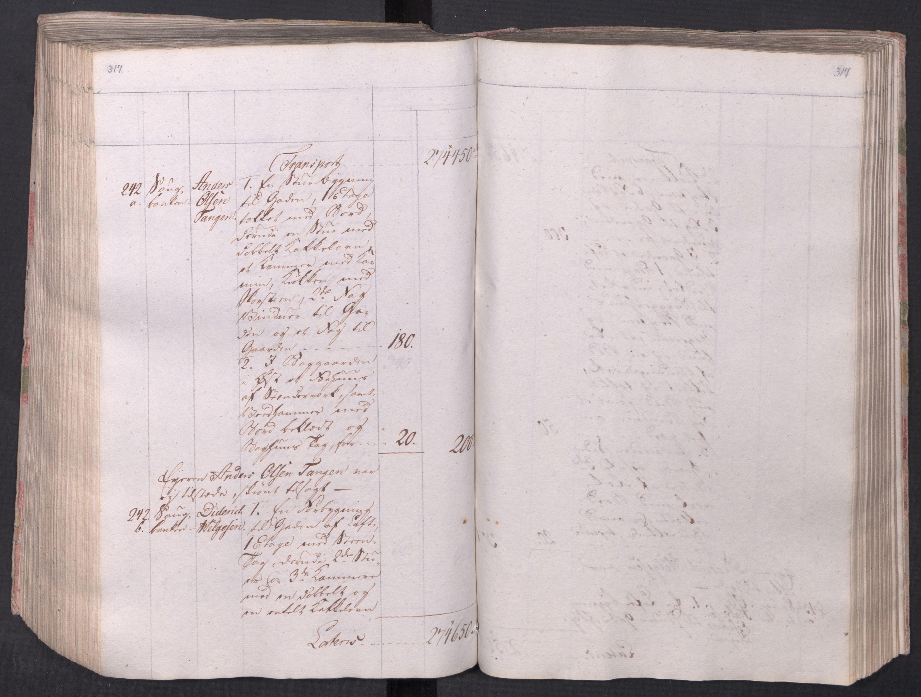 SAO, Kristiania stiftamt, I/Ia/L0015: Branntakster, 1797, s. 317