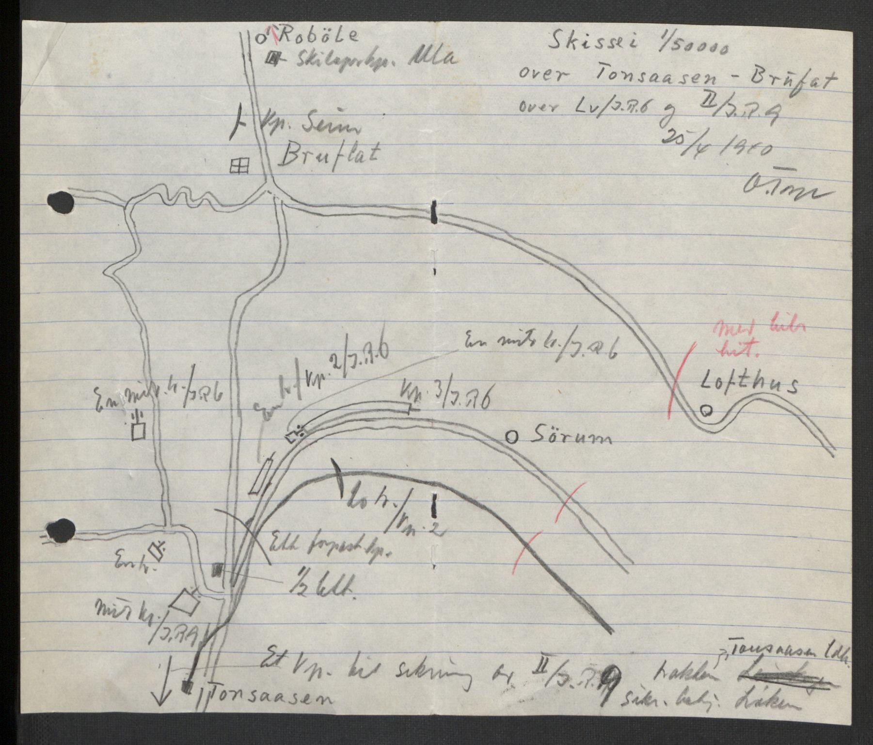 RA, Forsvaret, Forsvarets krigshistoriske avdeling, Y/Yb/L0104: II-C-11-430  -  4. Divisjon., 1940, s. 220
