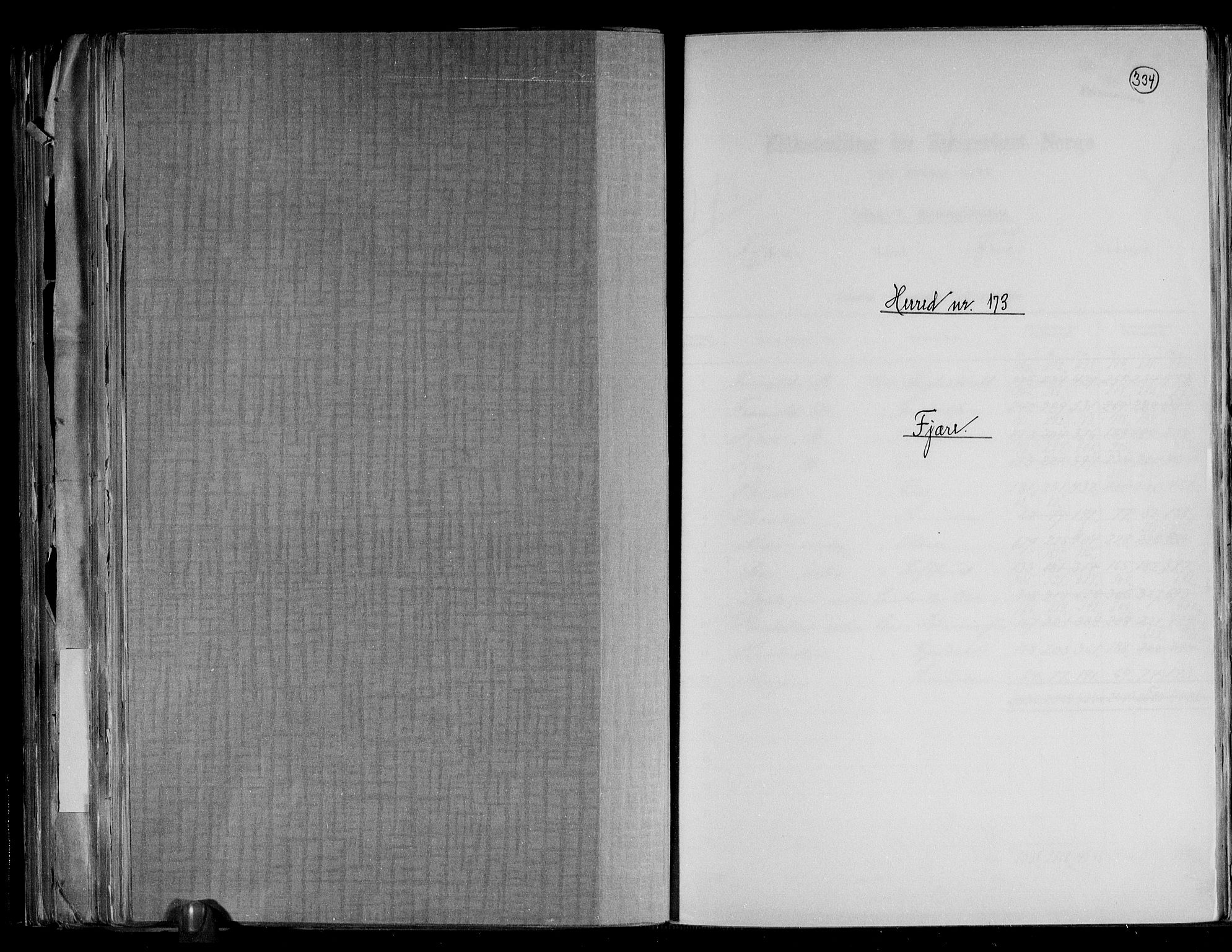 RA, Folketelling 1891 for 0923 Fjære herred, 1891, s. 1