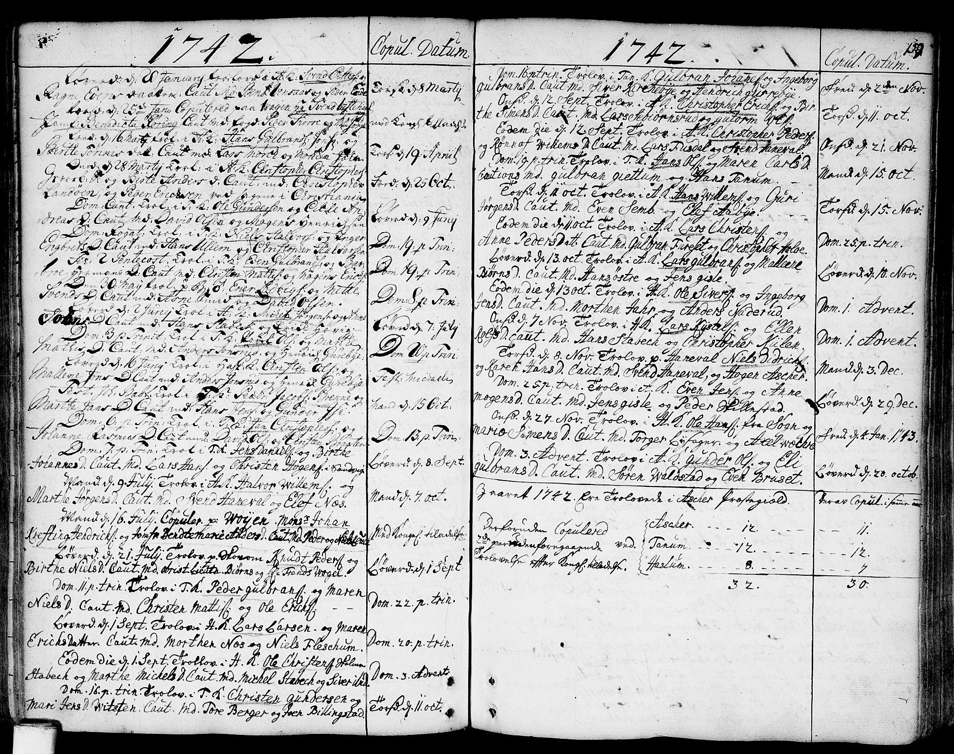SAO, Asker prestekontor Kirkebøker, F/Fa/L0002: Ministerialbok nr. I 2, 1733-1766, s. 159