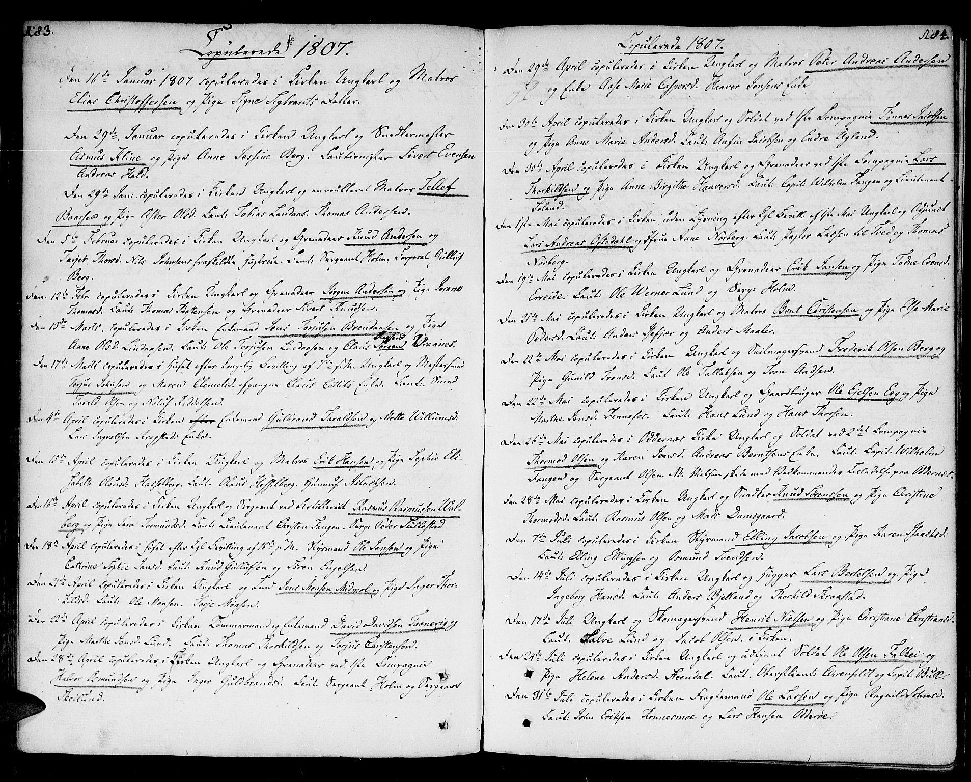 SAK, Kristiansand domprosti, F/Fa/L0005: Ministerialbok nr. A 5, 1776-1818, s. 183-184