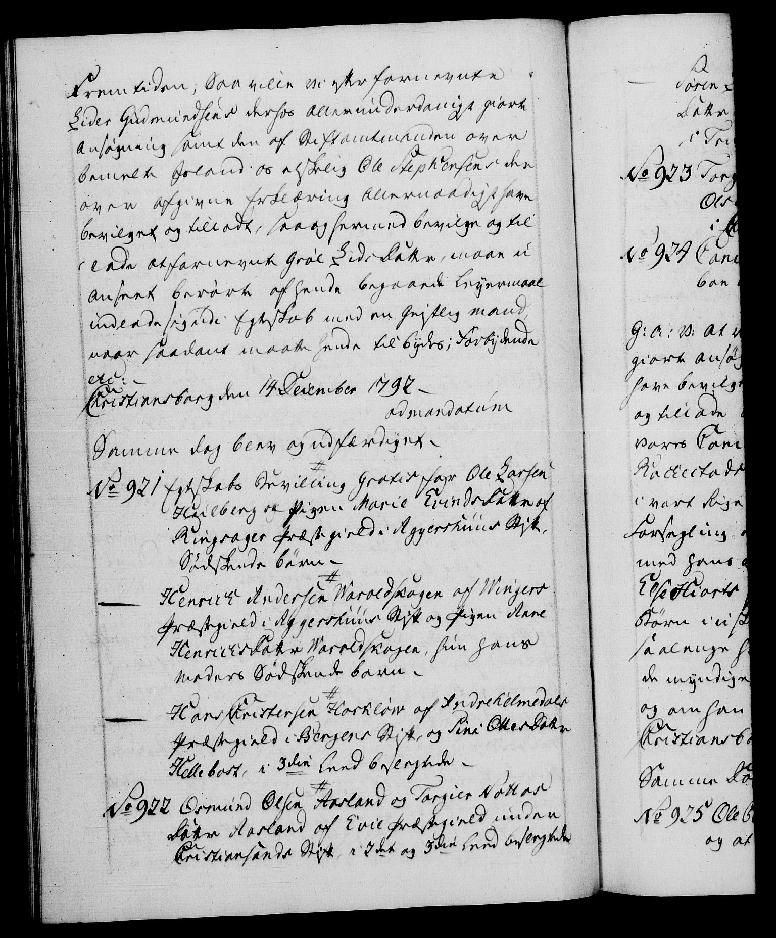 RA, Danske Kanselli 1572-1799, F/Fc/Fca/Fcaa/L0054: Norske registre, 1792-1793, s. 501b