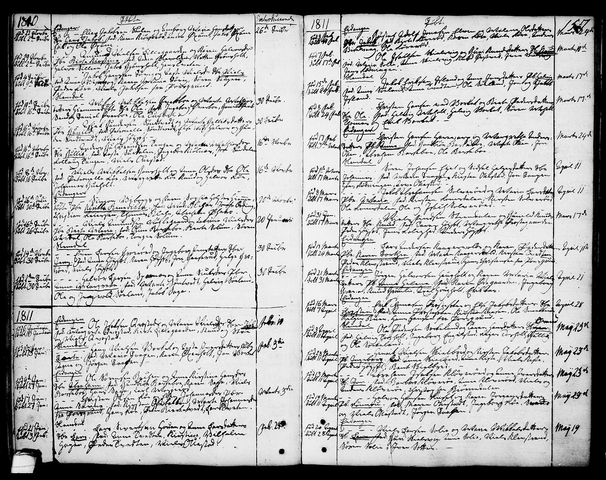 SAKO, Eidanger kirkebøker, F/Fa/L0006: Ministerialbok nr. 6, 1764-1814, s. 157