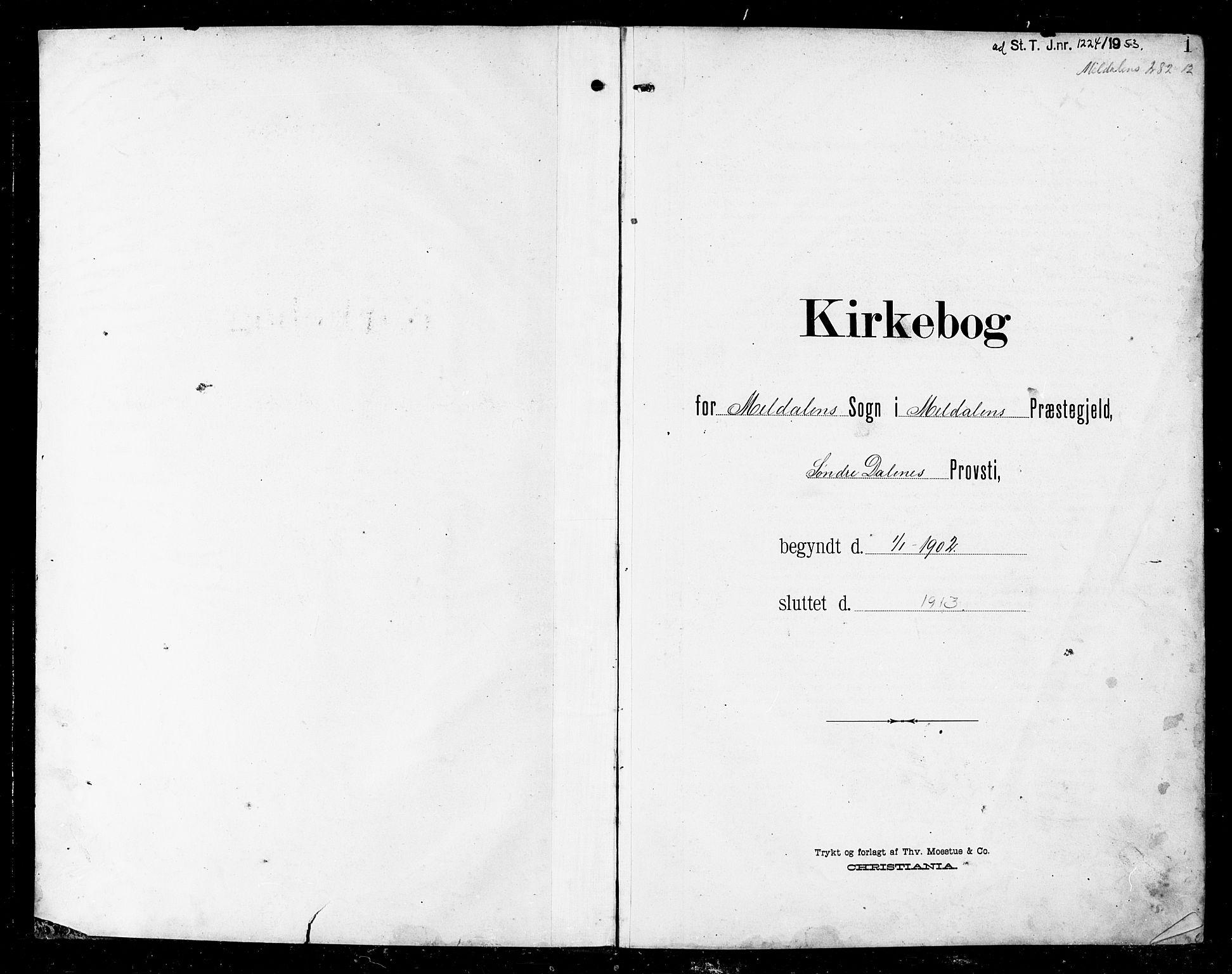 SAT, Ministerialprotokoller, klokkerbøker og fødselsregistre - Sør-Trøndelag, 672/L0864: Klokkerbok nr. 672C03, 1902-1914, s. 1
