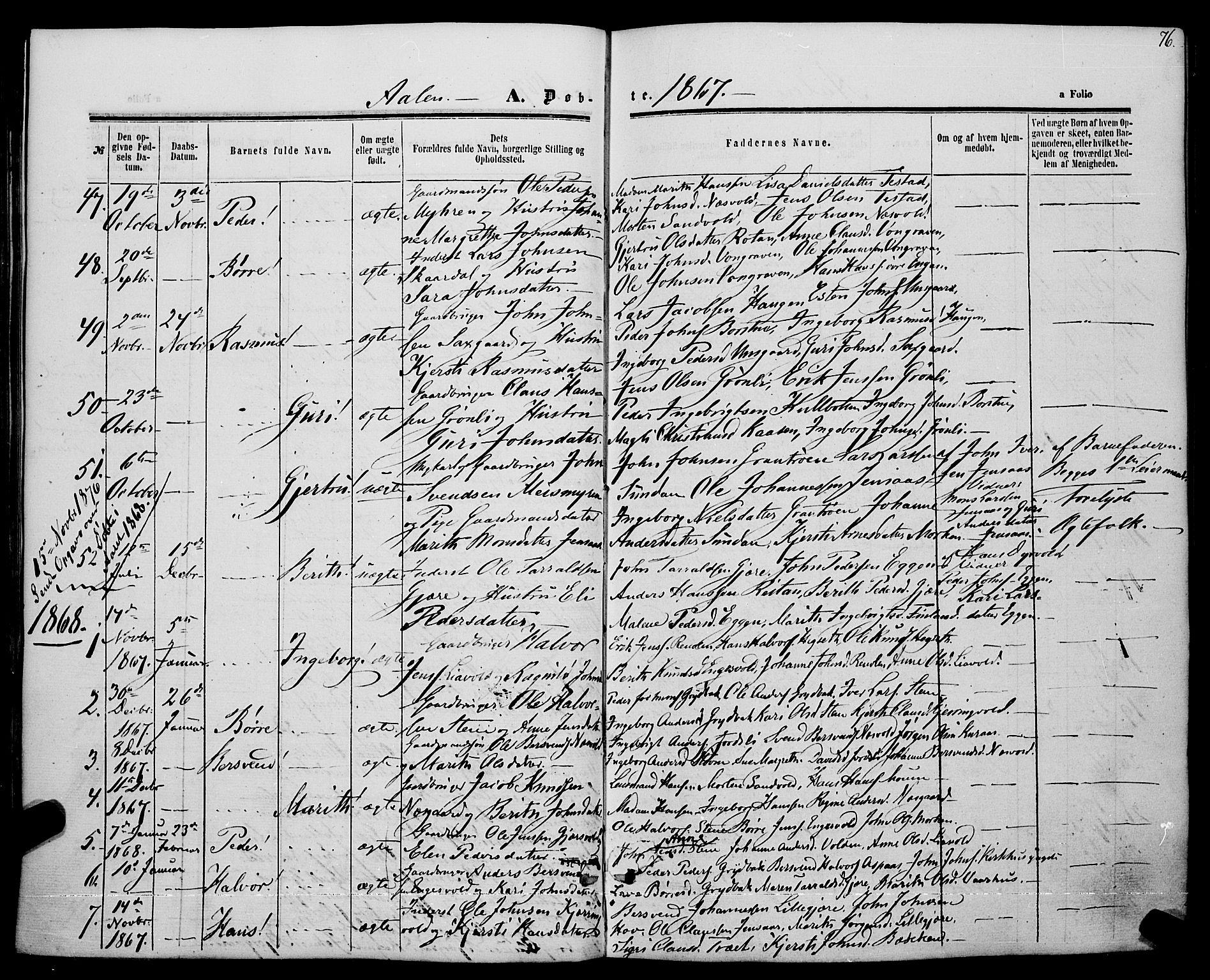 SAT, Ministerialprotokoller, klokkerbøker og fødselsregistre - Sør-Trøndelag, 685/L0968: Ministerialbok nr. 685A07 /3, 1860-1869, s. 76