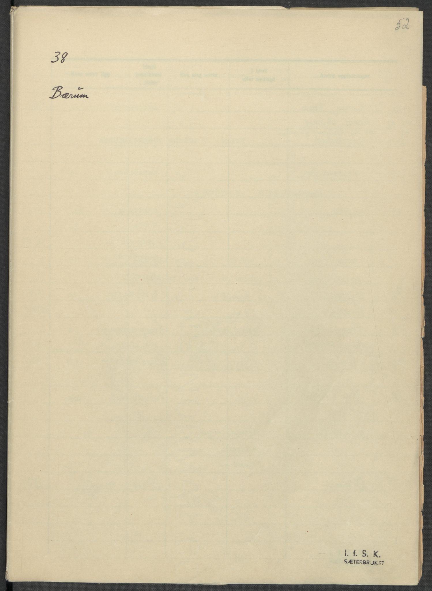 RA, Instituttet for sammenlignende kulturforskning, F/Fc/L0002: Eske B2:, 1932-1936, s. 52