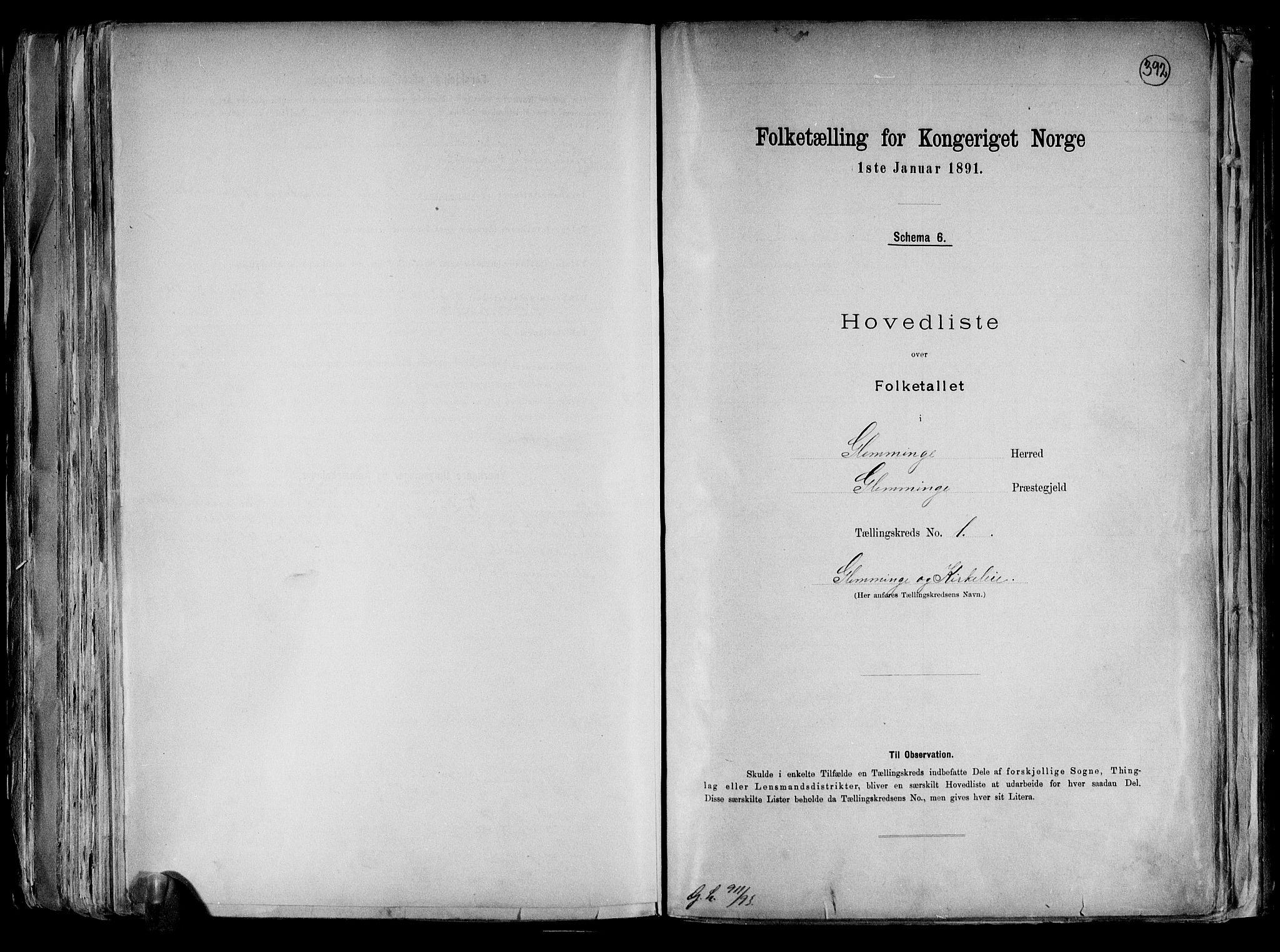RA, Folketelling 1891 for 0132 Glemmen herred, 1891, s. 4