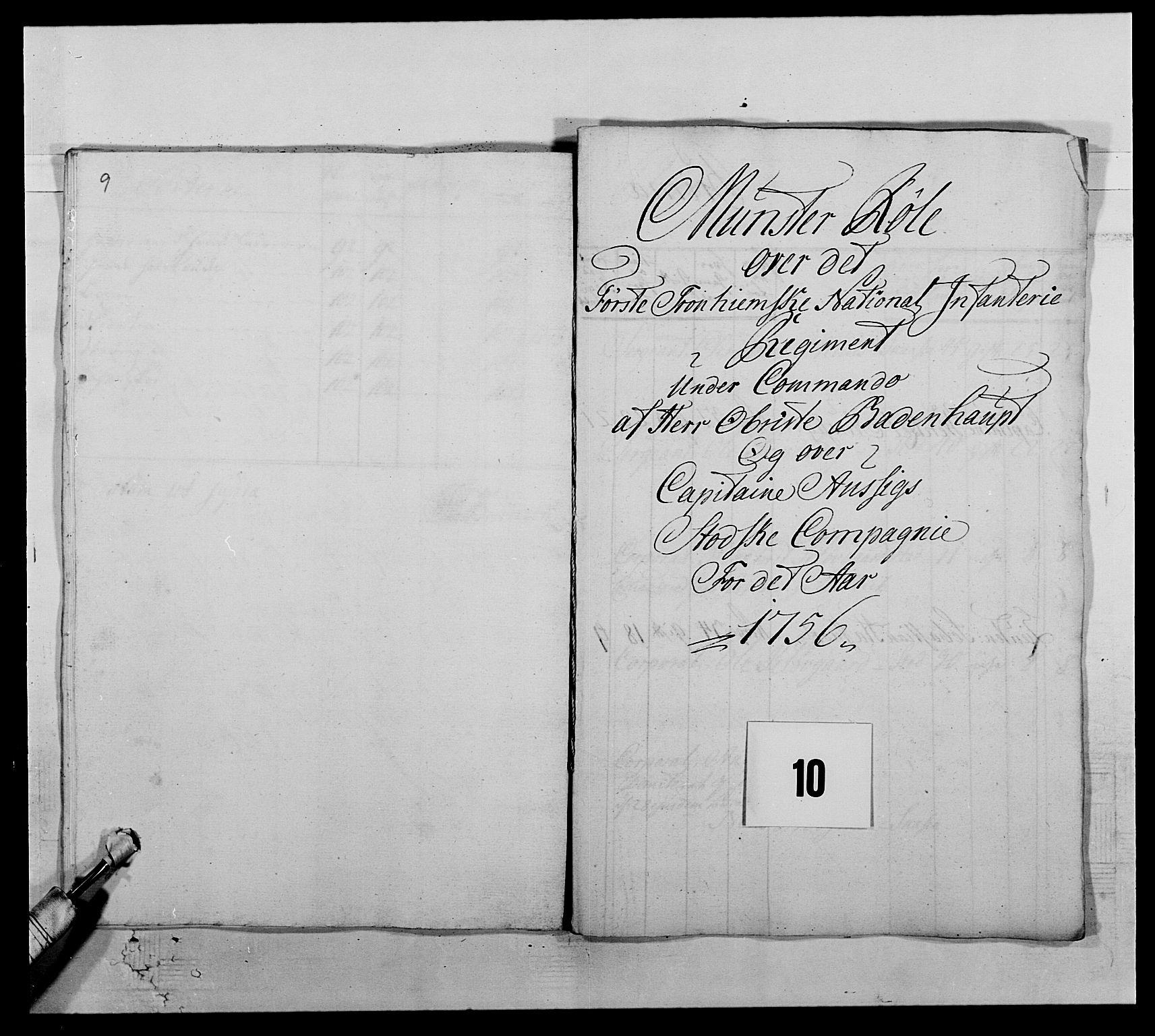 RA, Kommanderende general (KG I) med Det norske krigsdirektorium, E/Ea/L0510: 1. Trondheimske regiment, 1756-1765, s. 132