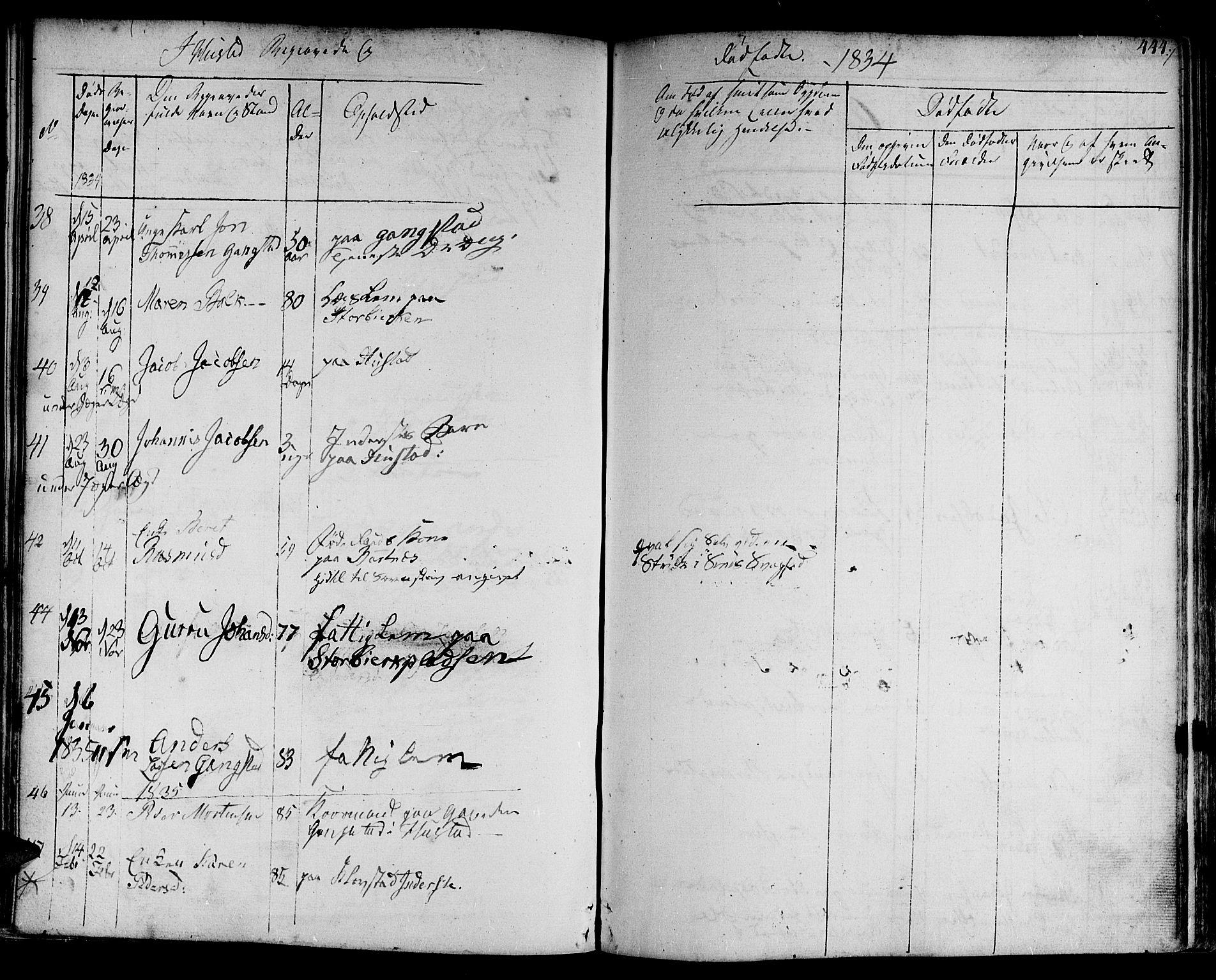 SAT, Ministerialprotokoller, klokkerbøker og fødselsregistre - Nord-Trøndelag, 730/L0277: Ministerialbok nr. 730A06 /3, 1830-1839, s. 444