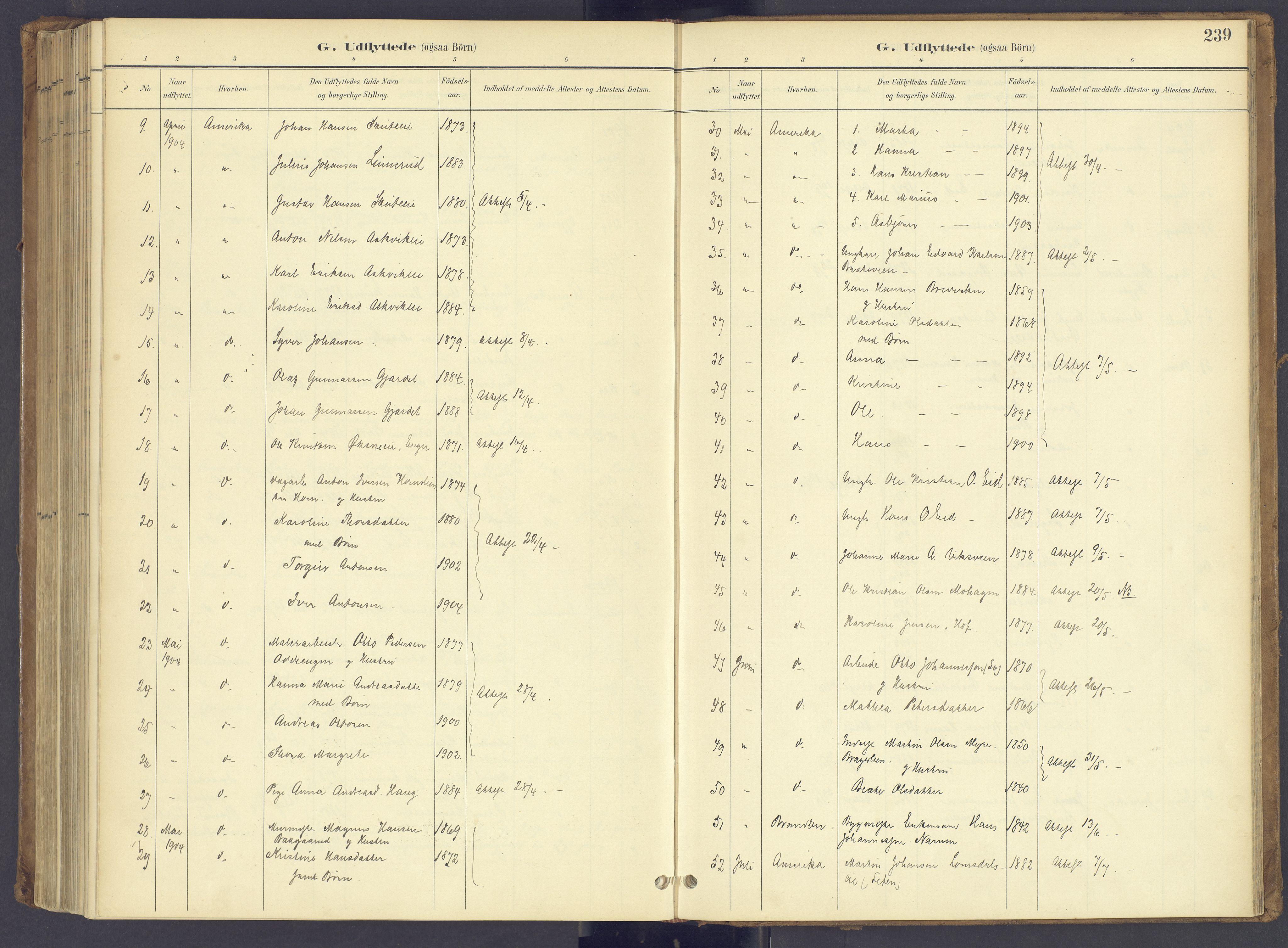 SAH, Søndre Land prestekontor, K/L0006: Ministerialbok nr. 6, 1895-1904, s. 239