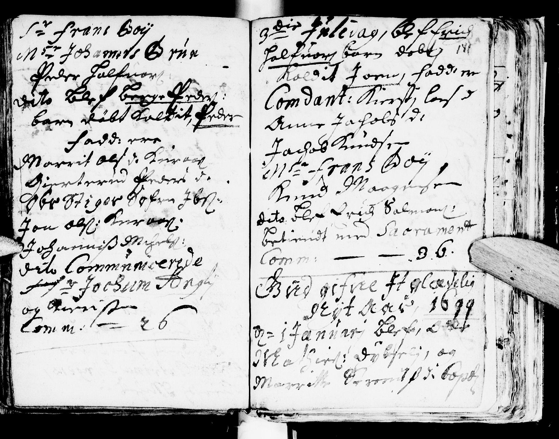 SAT, Ministerialprotokoller, klokkerbøker og fødselsregistre - Sør-Trøndelag, 681/L0923: Ministerialbok nr. 681A01, 1691-1700, s. 141