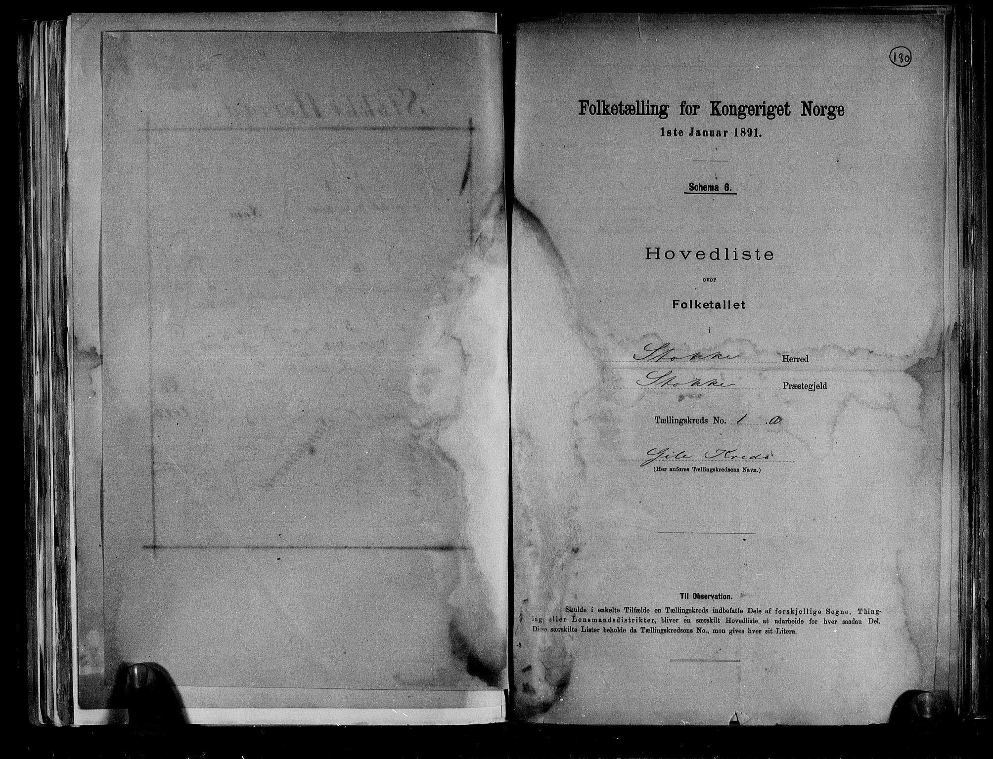 RA, Folketelling 1891 for 0720 Stokke herred, 1891, s. 5