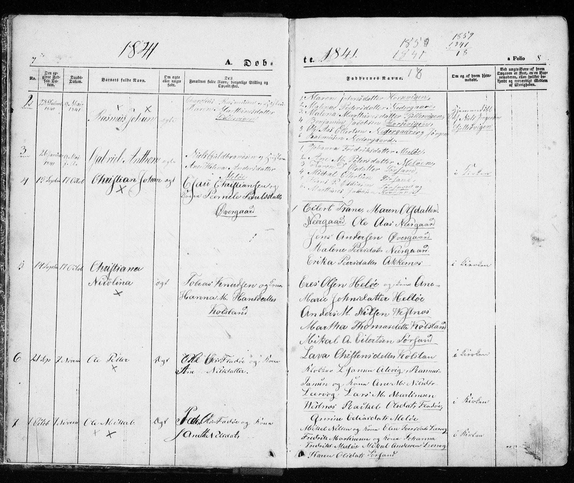 SATØ, Trondenes sokneprestkontor, H/Ha/L0010kirke: Ministerialbok nr. 10, 1840-1865, s. 7-8
