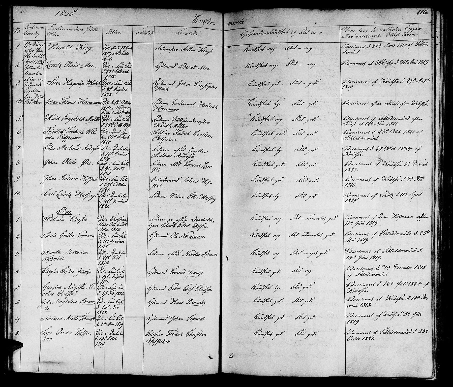 SAT, Ministerialprotokoller, klokkerbøker og fødselsregistre - Sør-Trøndelag, 602/L0136: Klokkerbok nr. 602C04, 1833-1845, s. 116