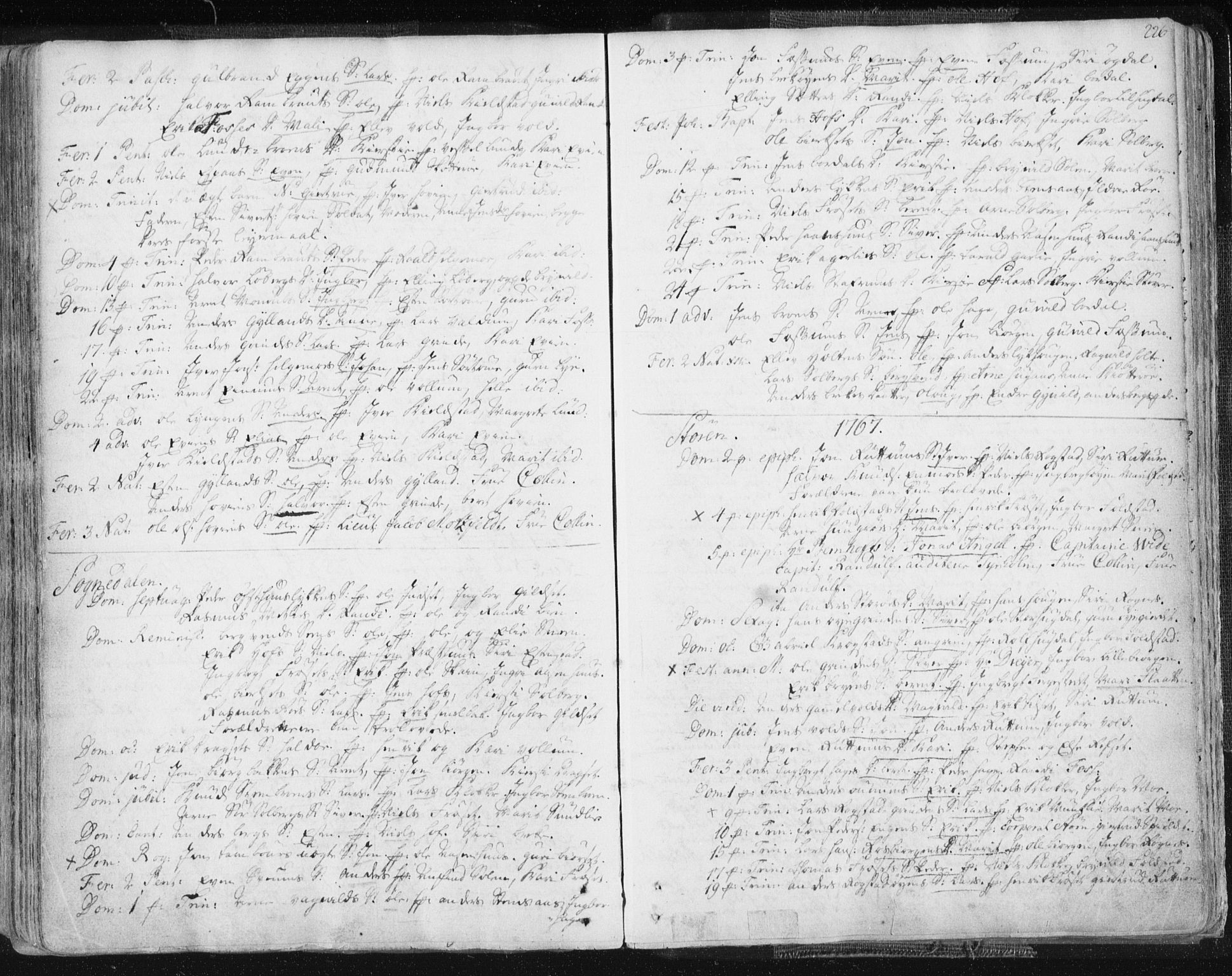 SAT, Ministerialprotokoller, klokkerbøker og fødselsregistre - Sør-Trøndelag, 687/L0991: Ministerialbok nr. 687A02, 1747-1790, s. 226